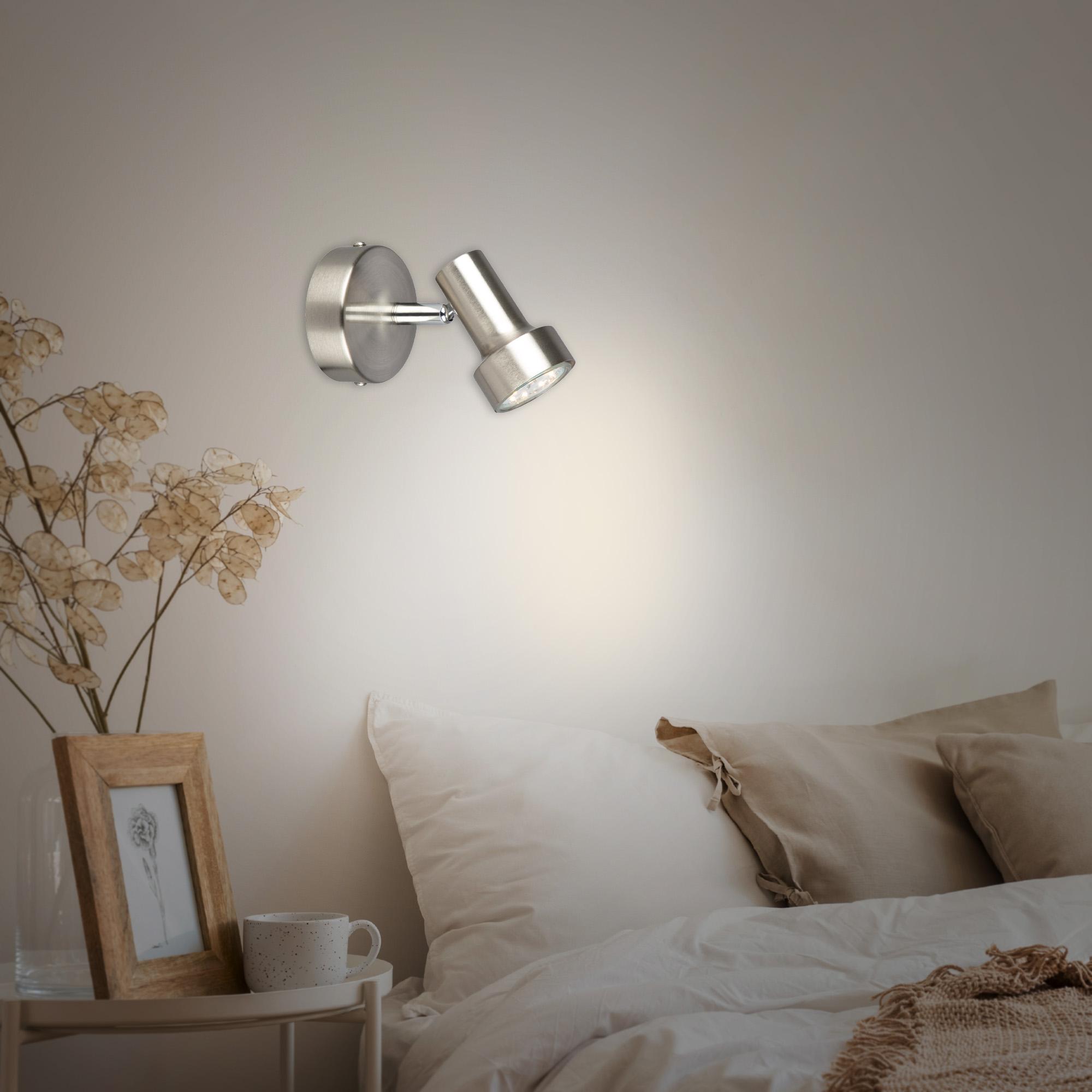 LED Spot Wandleuchte Matt-Nickel