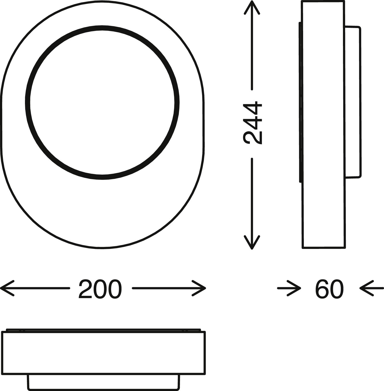 TELEFUNKEN LED Aussenwandleuchte, 20 cm, 8 W, Schwarz