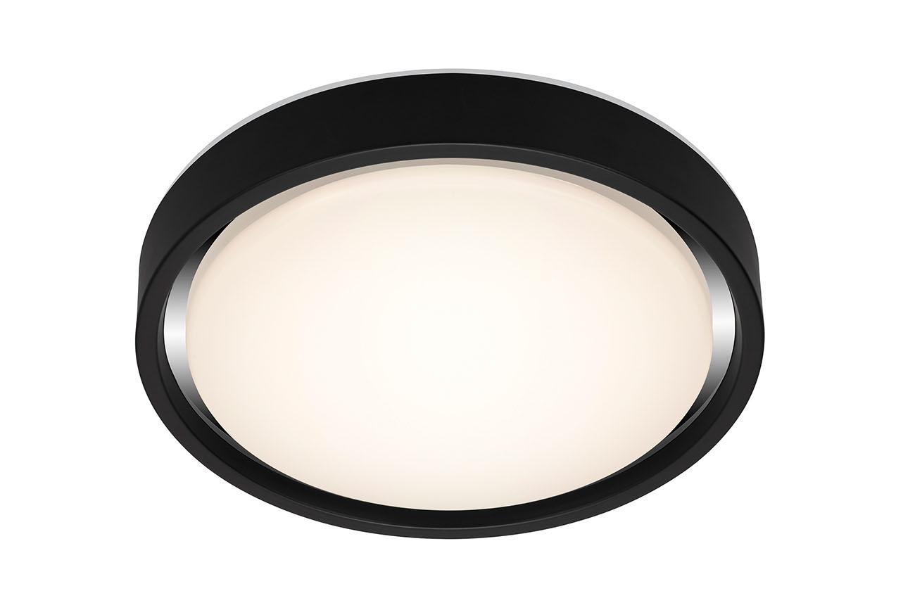 CCT LED Deckenleuchte, Ø 36 cm, 1600 LM, 24 W, Schwarz