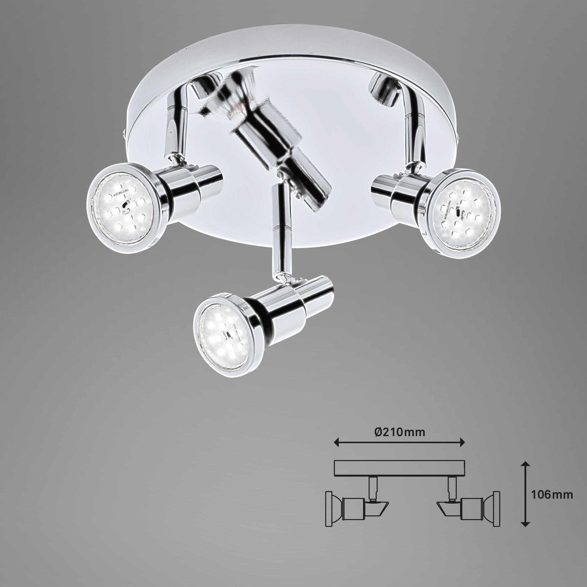 LED Spot Deckenleuchte Chrom