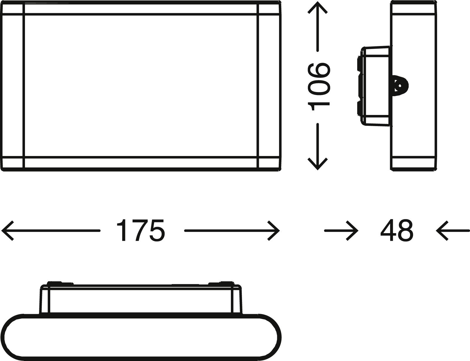 TELEFUNKEN LED Aussenleuchte, 17,5 cm, 7 W, Schwarz