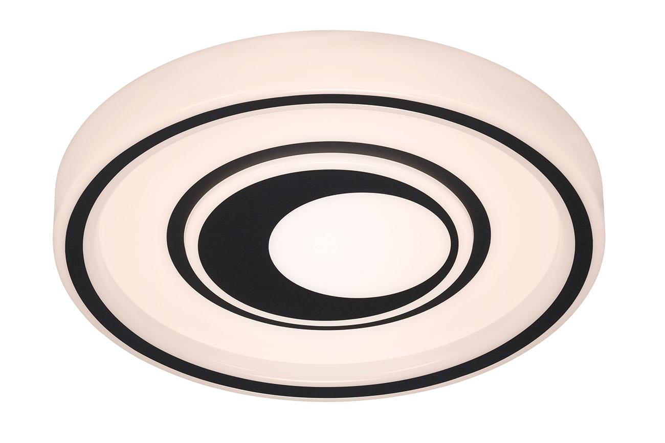 CCT LED Deckenleuchte, Ø 49 cm, 42 W, Schwarz-Weiss