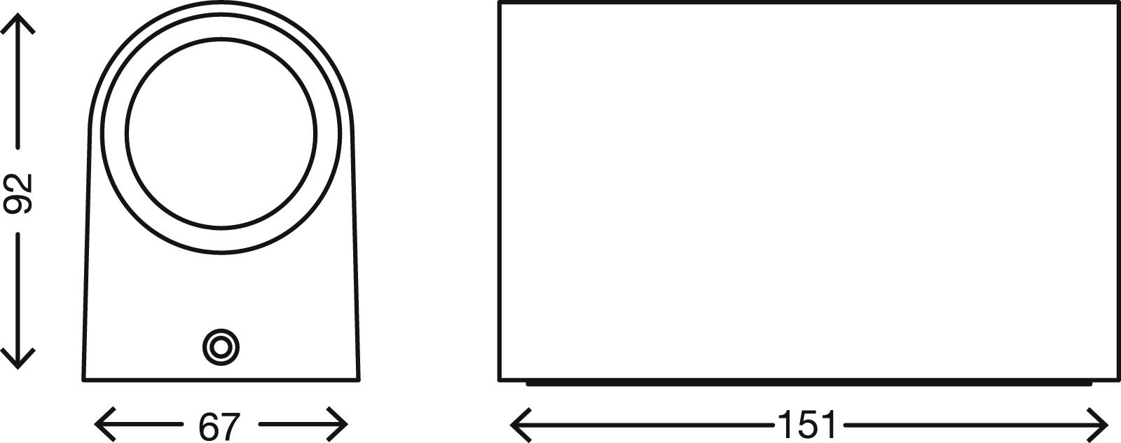 TELEFUNKEN LED Sensor Außenwandleuchte, 15,1 cm, 10 W, Weiß