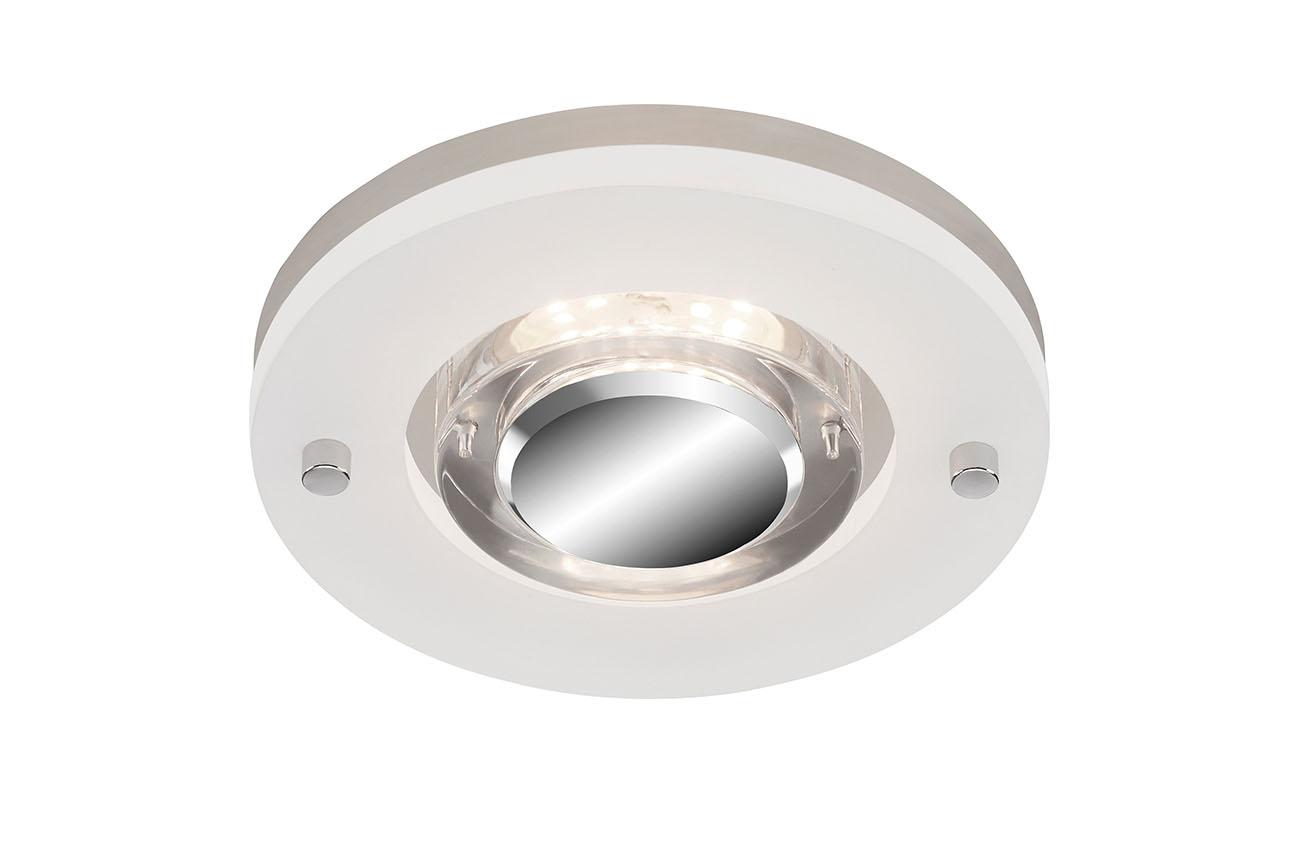 LED Einbauleuchte, Ø 13 cm, 5 W, Matt-Nickel