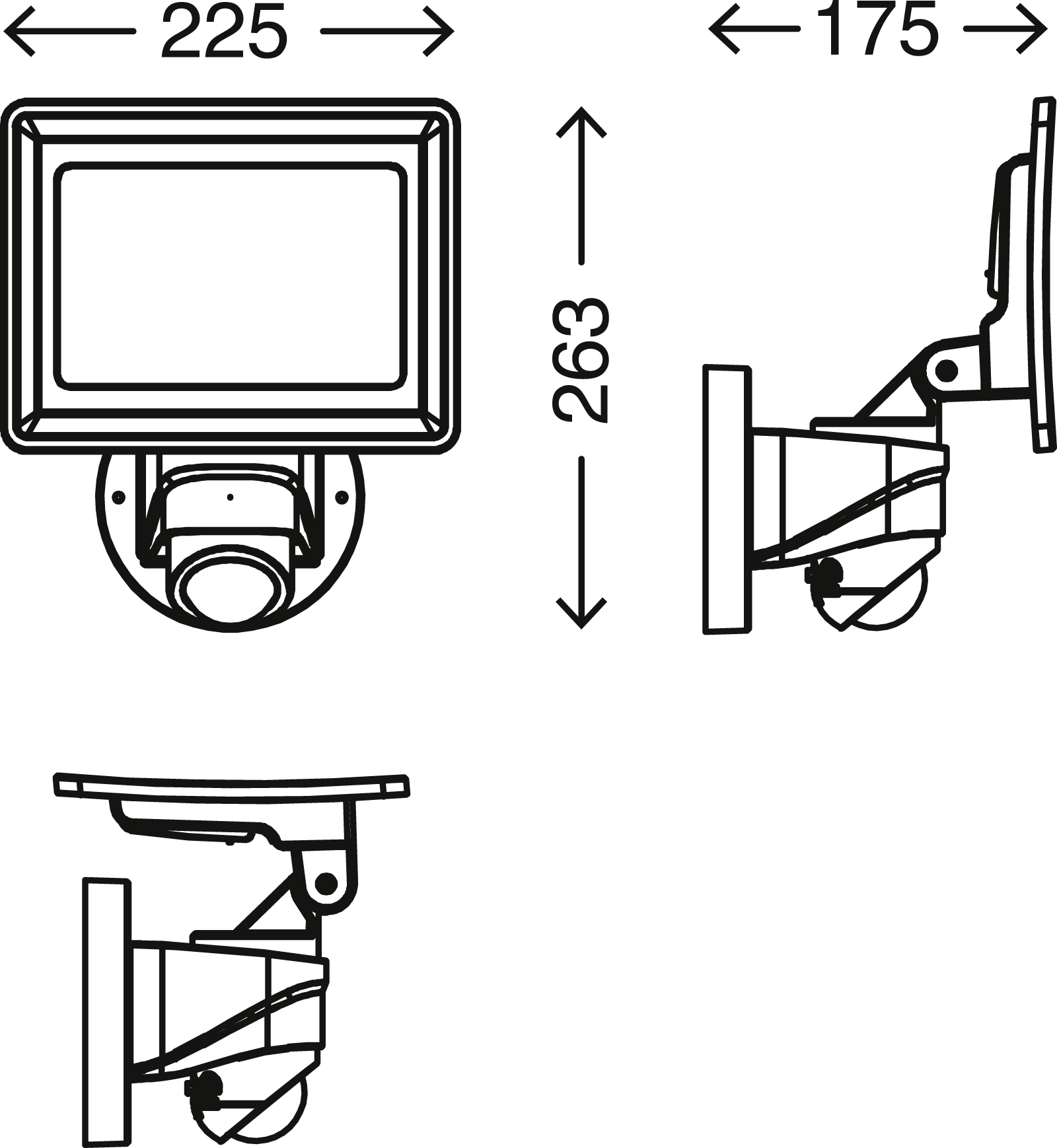 TELEFUNKEN LED Sensor Aussenstrahler, 26,3 cm, 20 W, Weiss
