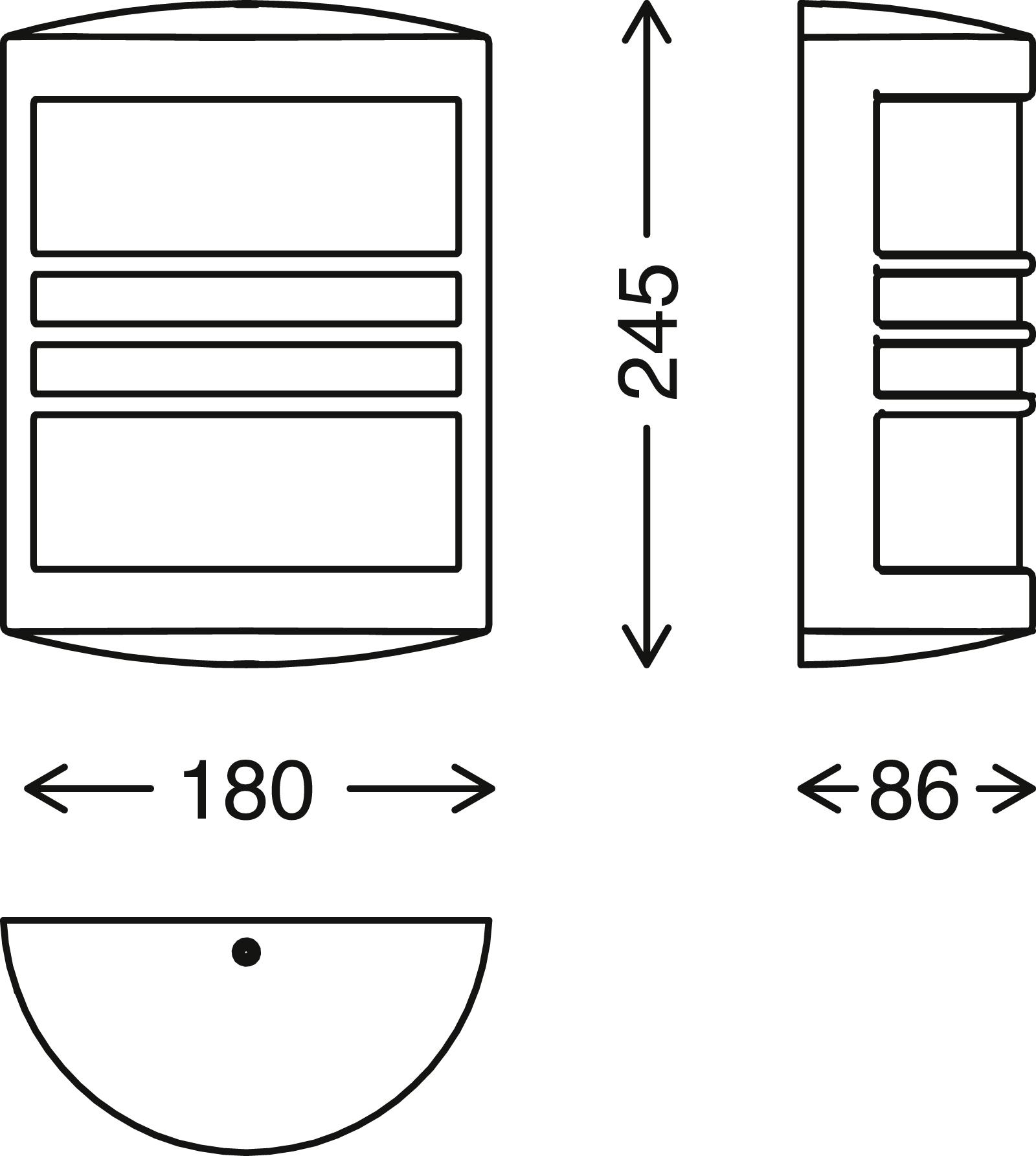 TELEFUNKEN LED Aussenwandleuchte, 18 cm, 12 W, Schwarz