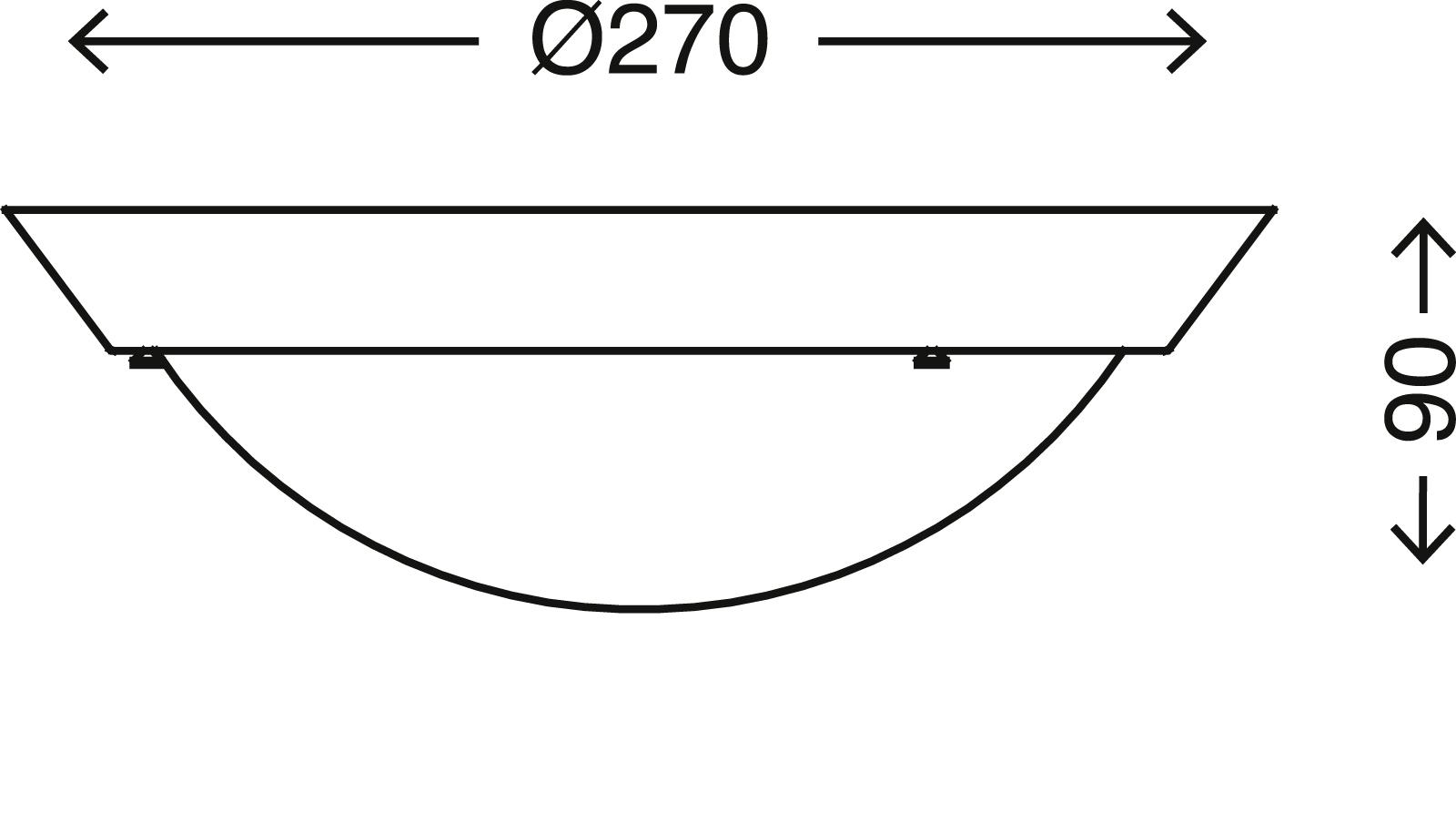 LED Deckenleuchte, Ø 27 cm, max. 60 W, Weiss