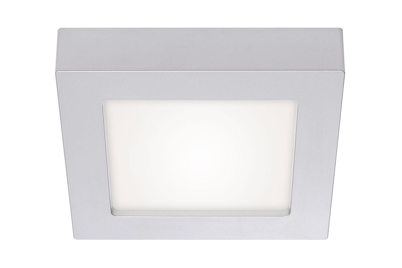 2in1 LED Auf- und Einbauleuchte, 17,2 cm, 12 W, Chrom-Matt