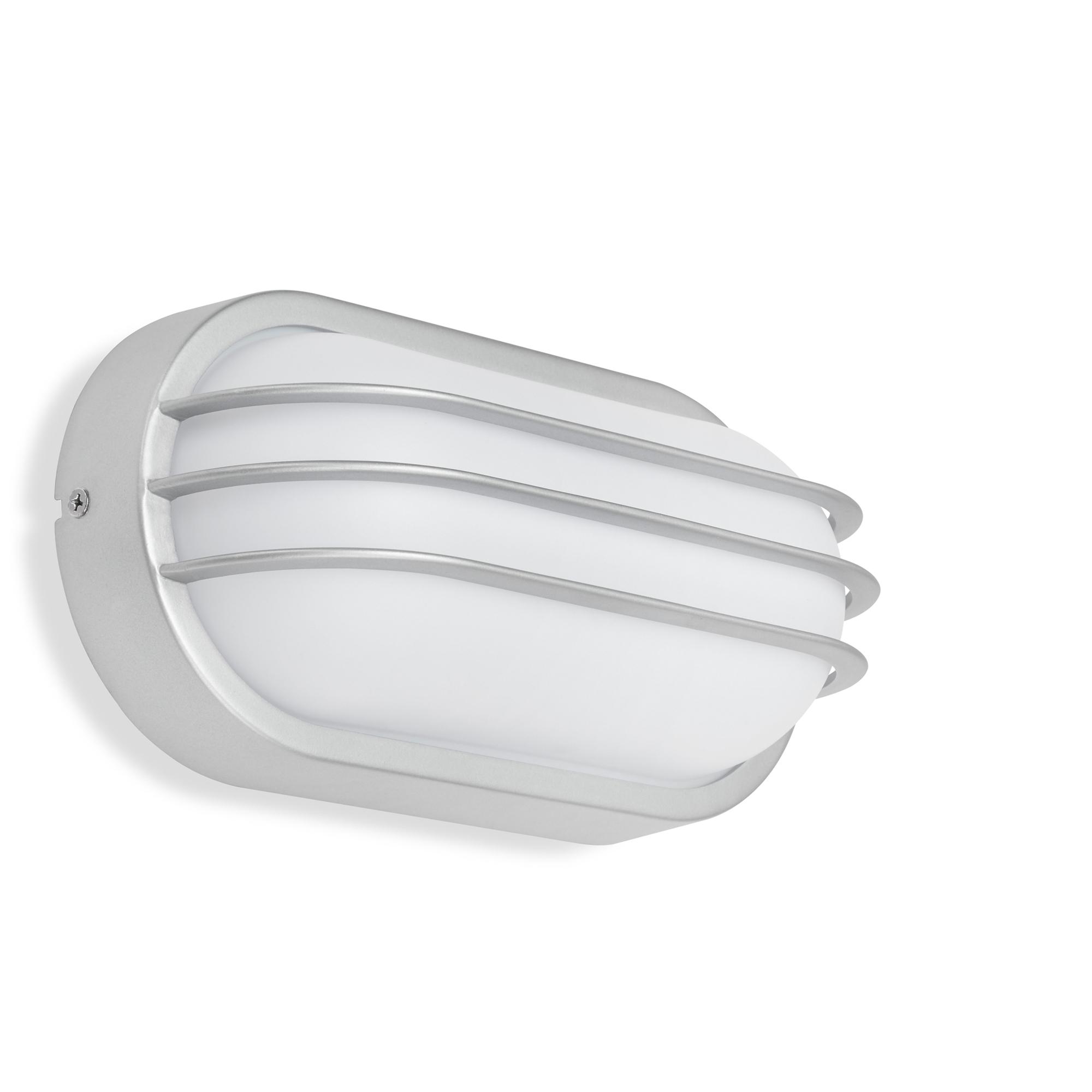 TELEFUNKEN LED Außenwandleuchte, 24 cm, 12 W, Silber