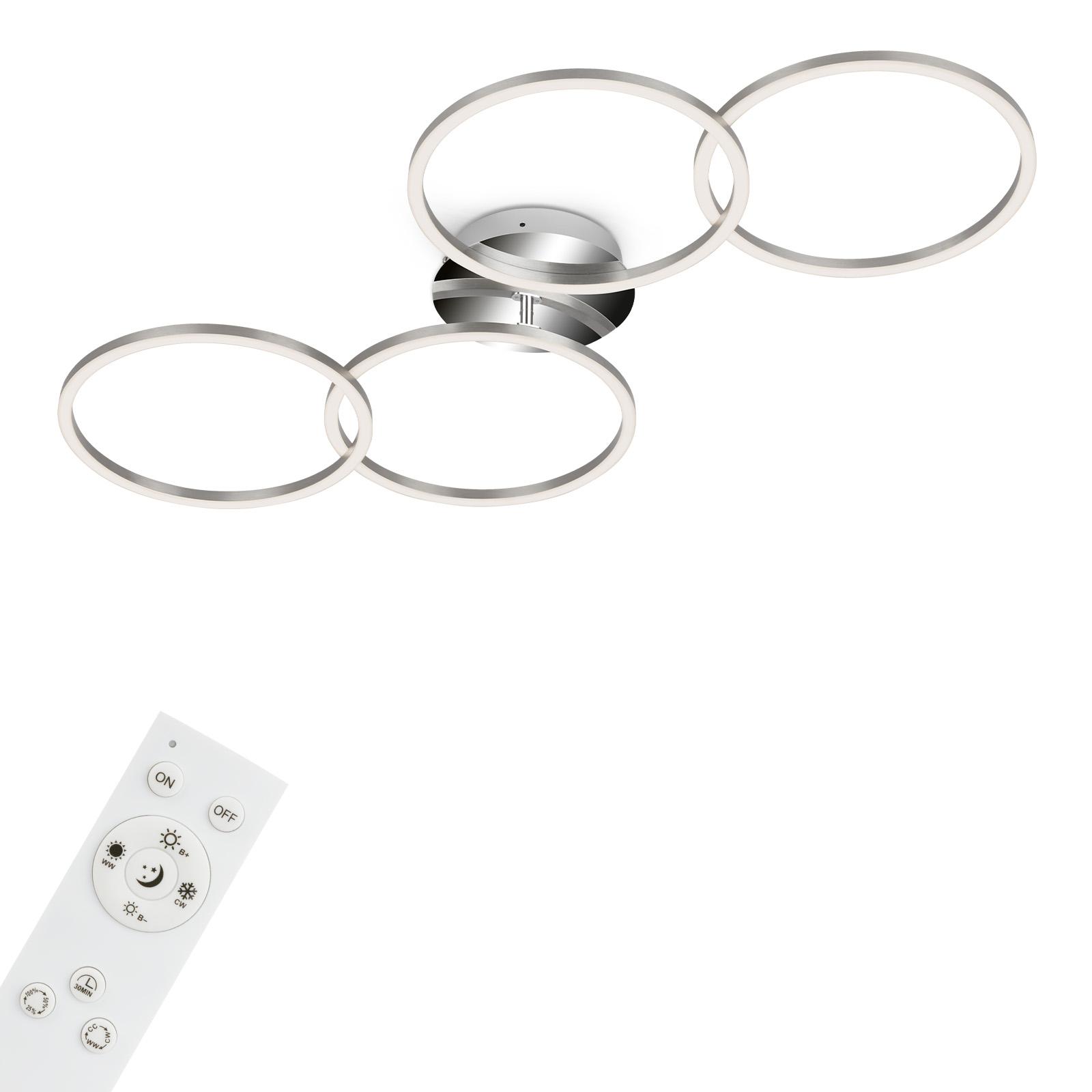 CCT LED Deckenleuchte, 95,8 cm, 30 W, Alu-Chrom