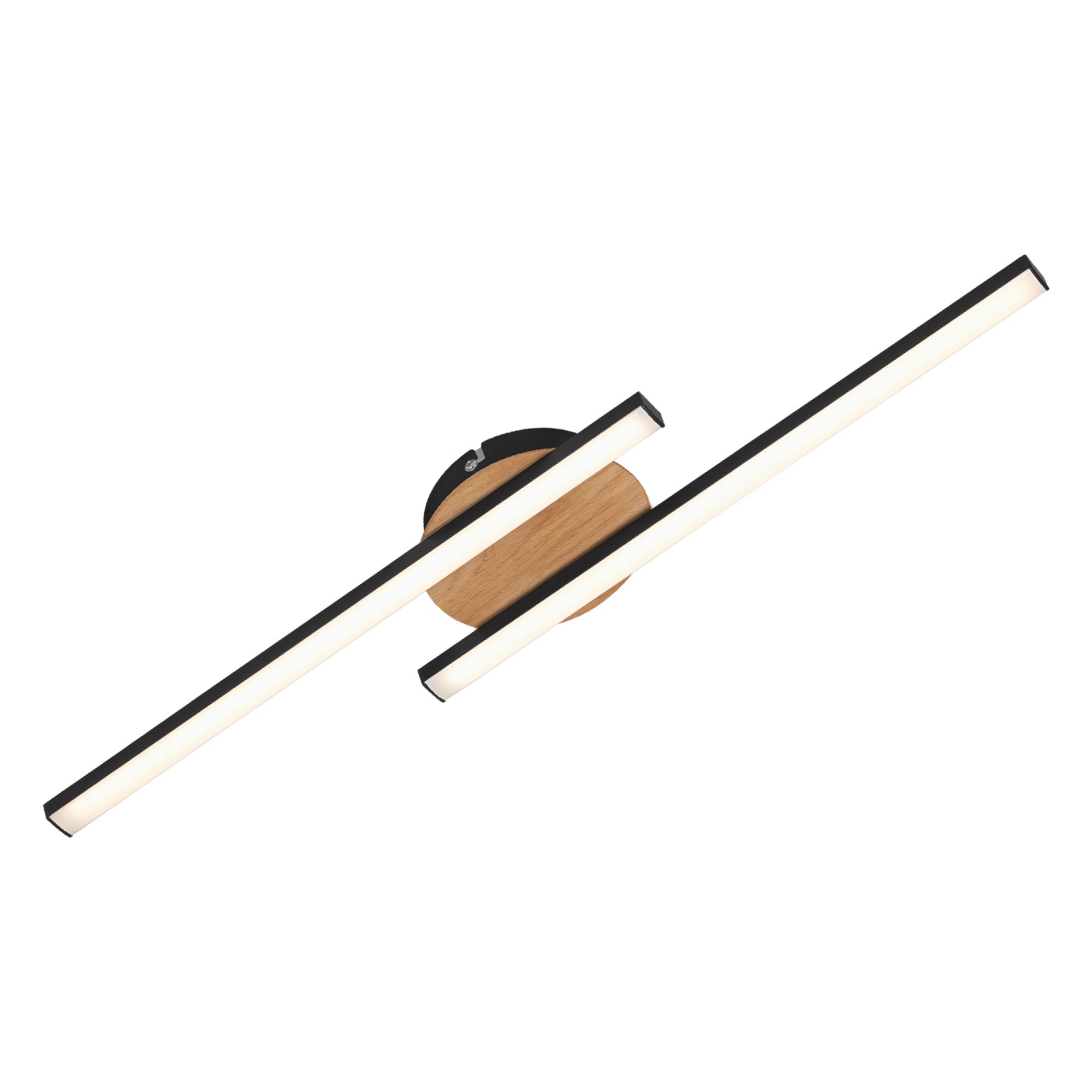 LED Wand- und Deckenleuchte, 55,5 cm, 12 W, Schwarz
