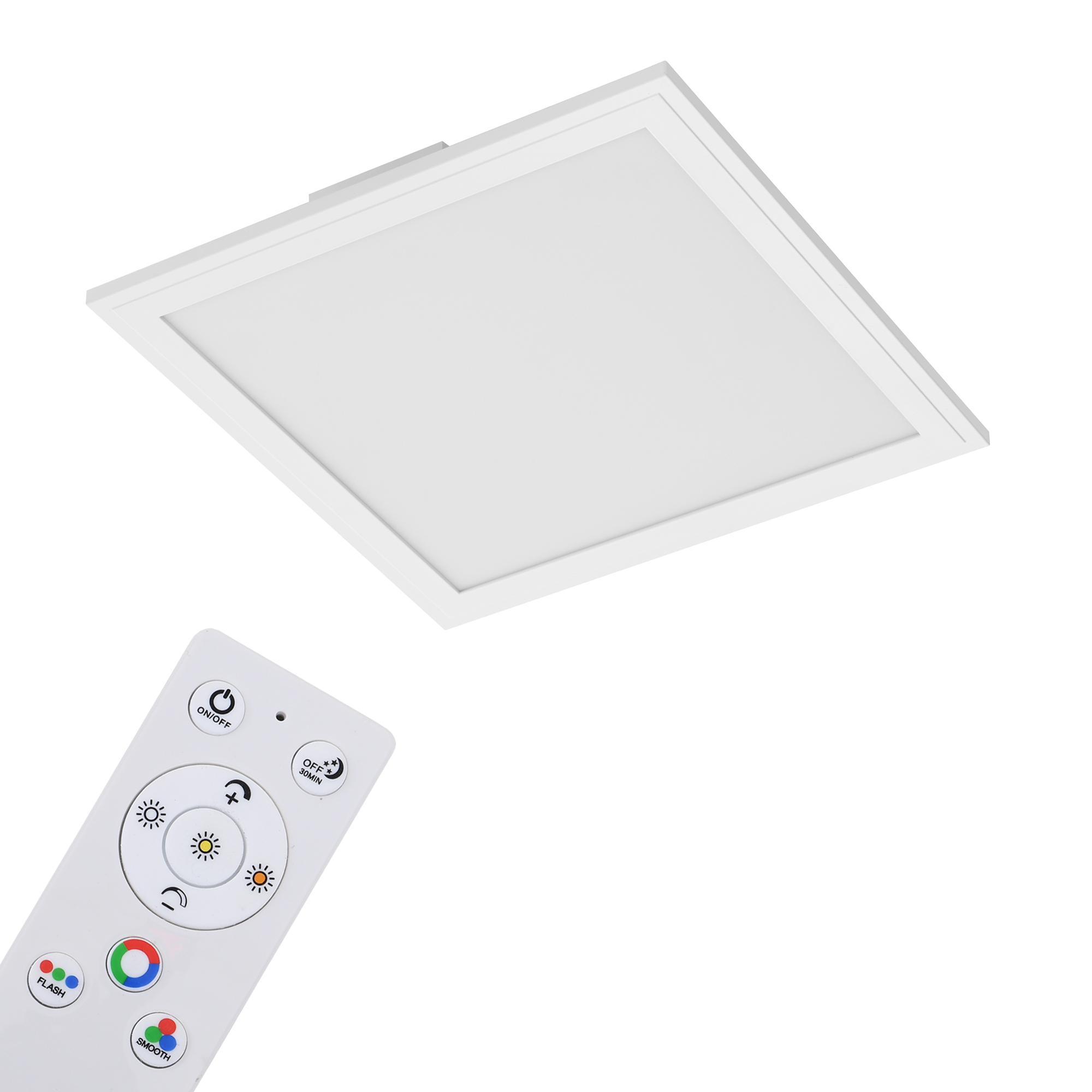 RGB Farbwechsel LED Panel, 29,5 cm, 1800 LUMEN, Weiß