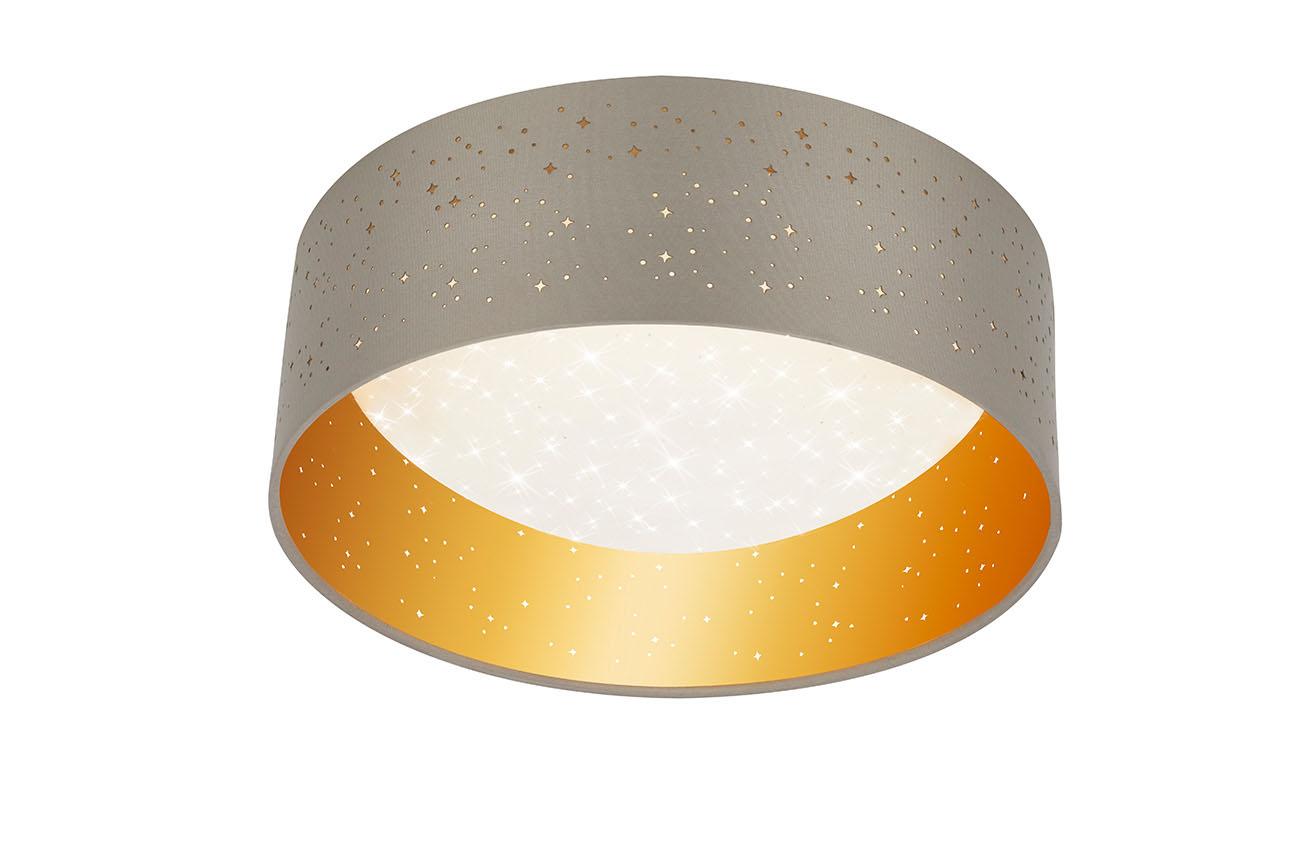 STERNENHIMMEL LED Deckenleuchte, Ø 32,5 cm, 12 W, Taupe-Gold