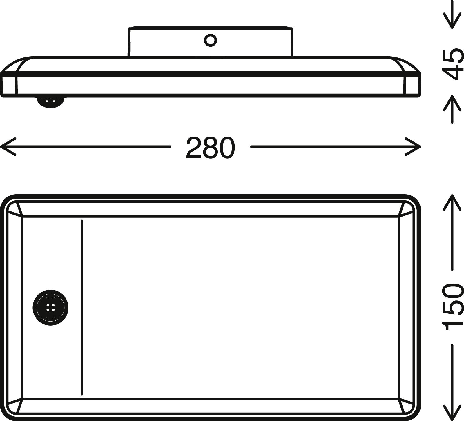 TELEFUNKEN LED Sensor Aussenwandleuchte, 28 cm, 16 W, Schwarz