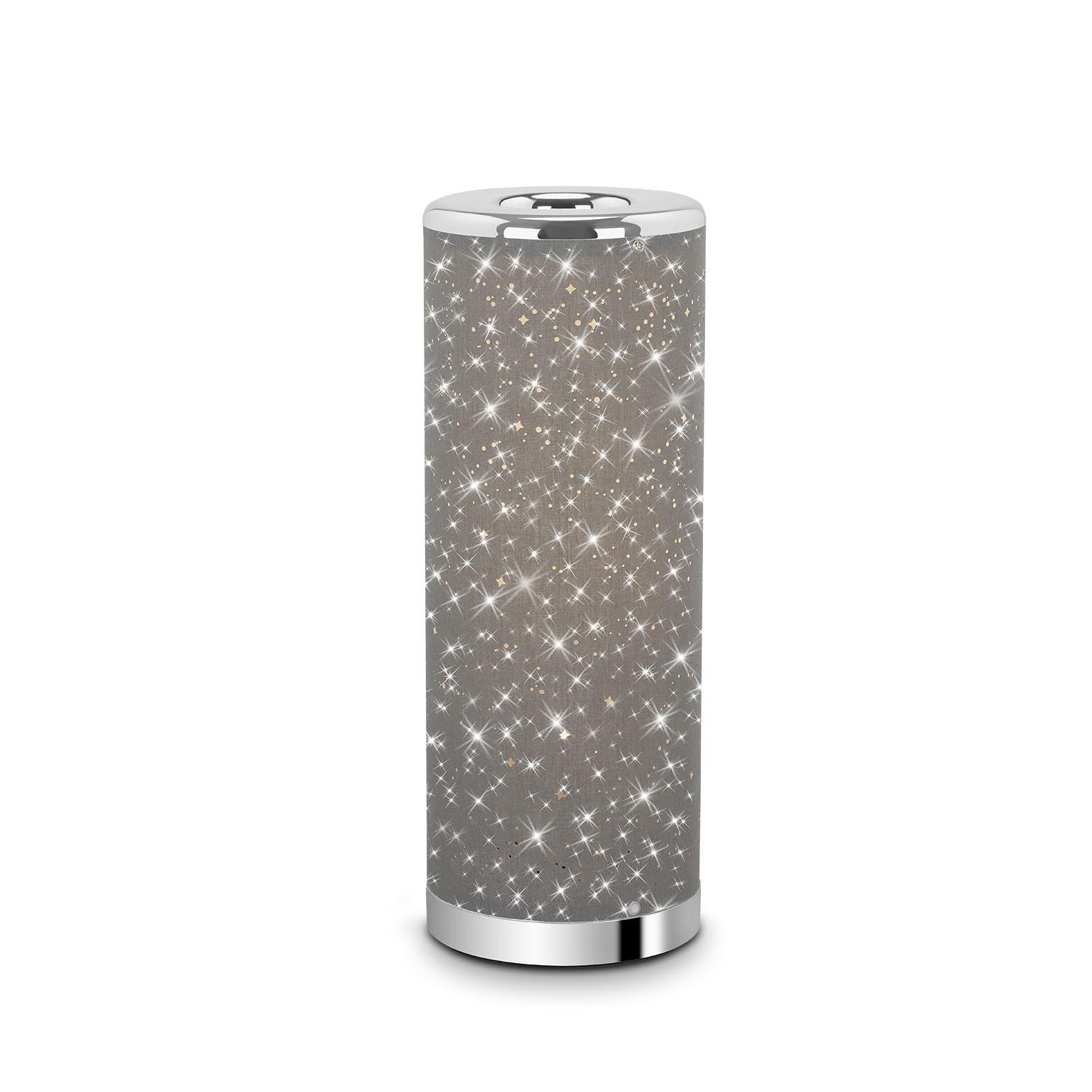 Sternenhimmel LED-Tischleuchte Grau-Chrom