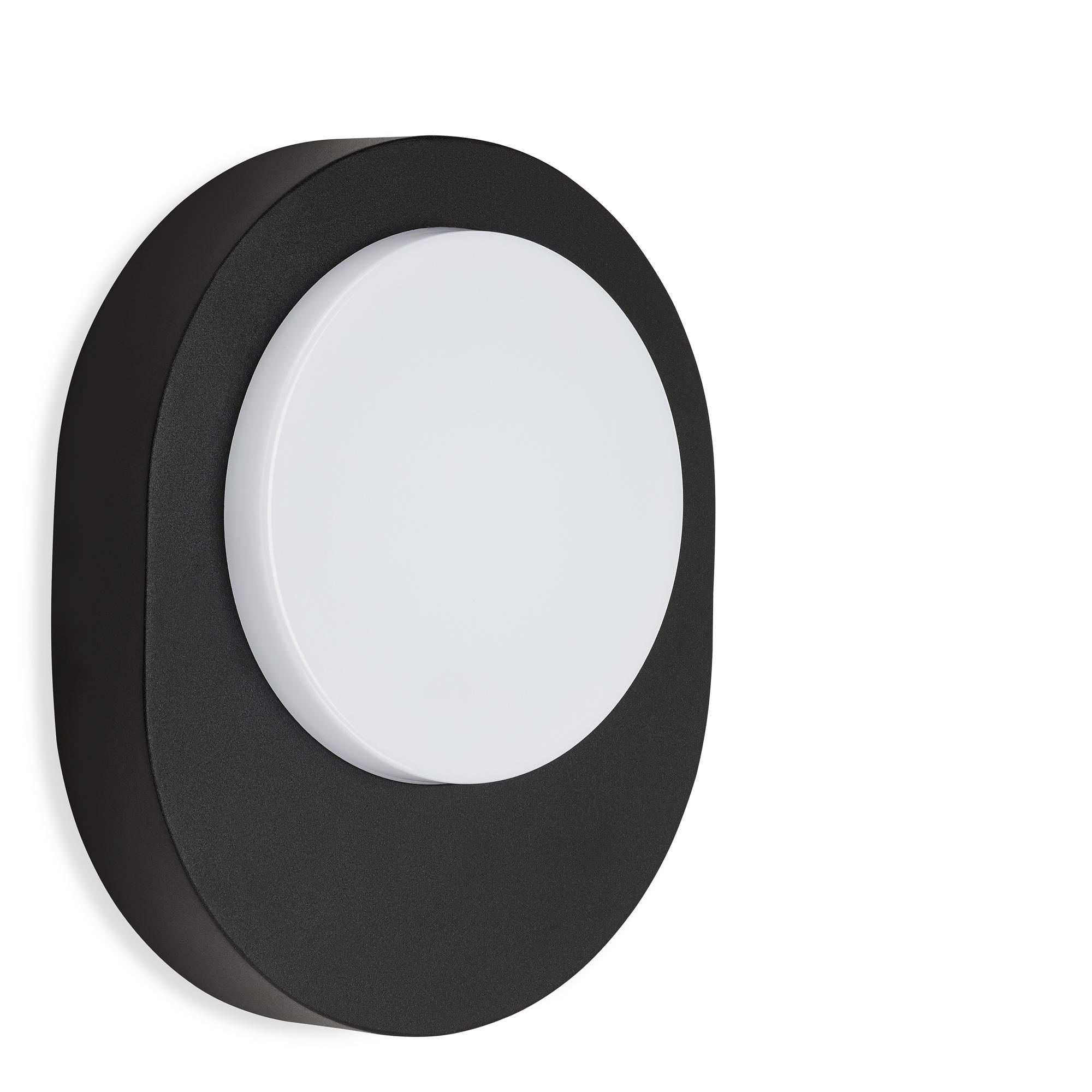 TELEFUNKEN LED Außenwandleuchte, 20 cm, 8 W, Schwarz