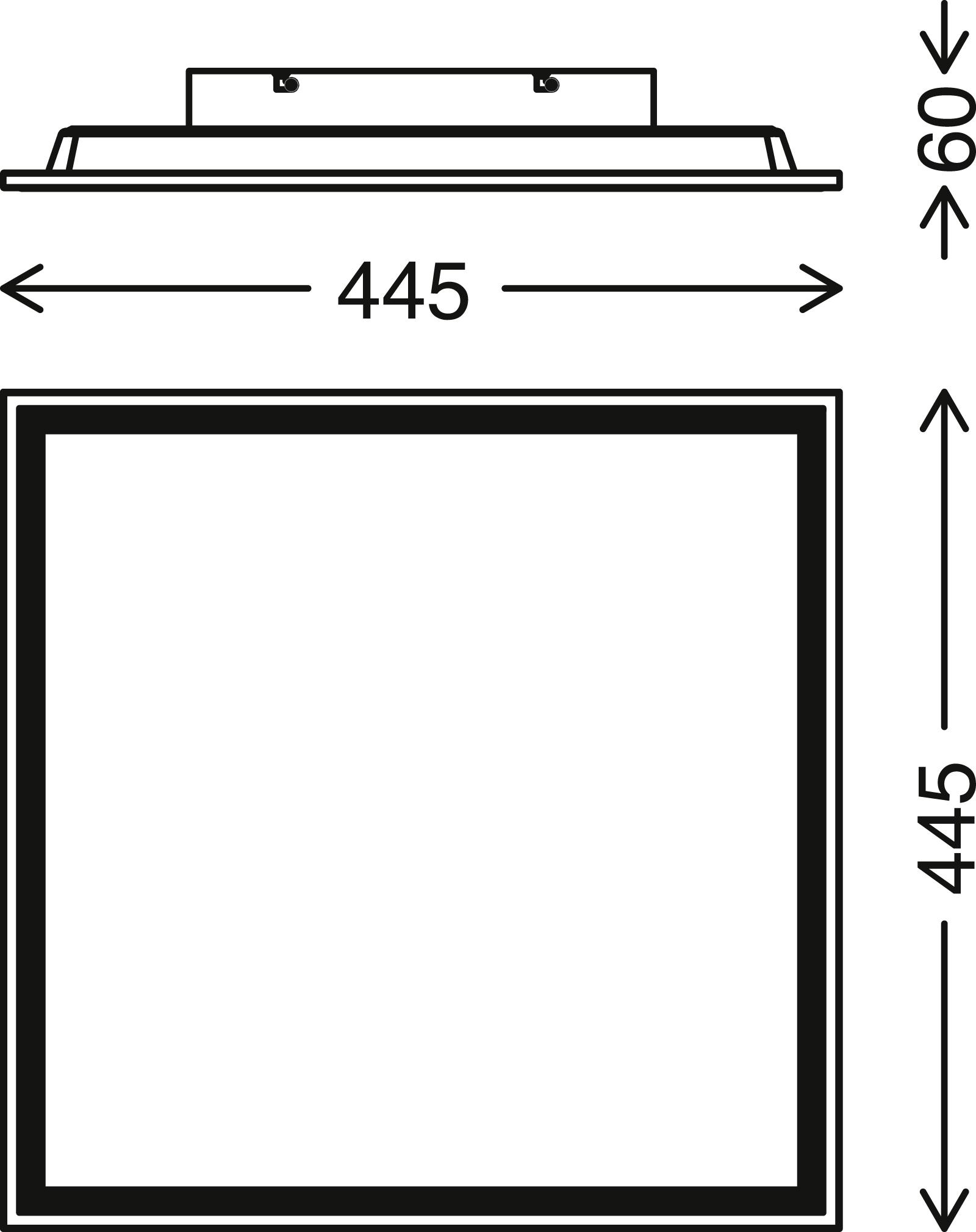 CCT LED Panel, 45 cm, 2400 LUMEN, 24 WATT, Weiss