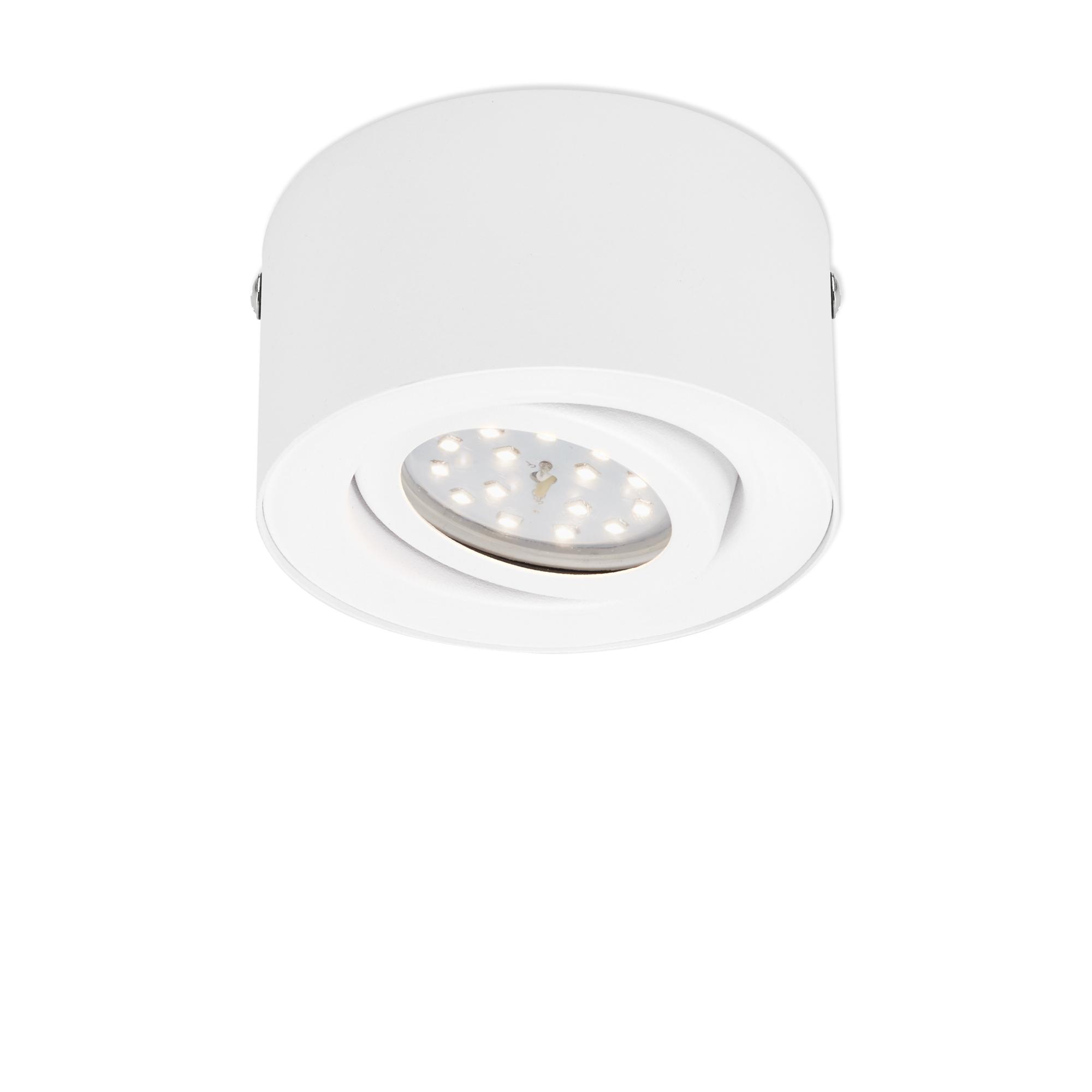 LED Aufbauleuchte, Ø 9 cm, 5 W, Weiß