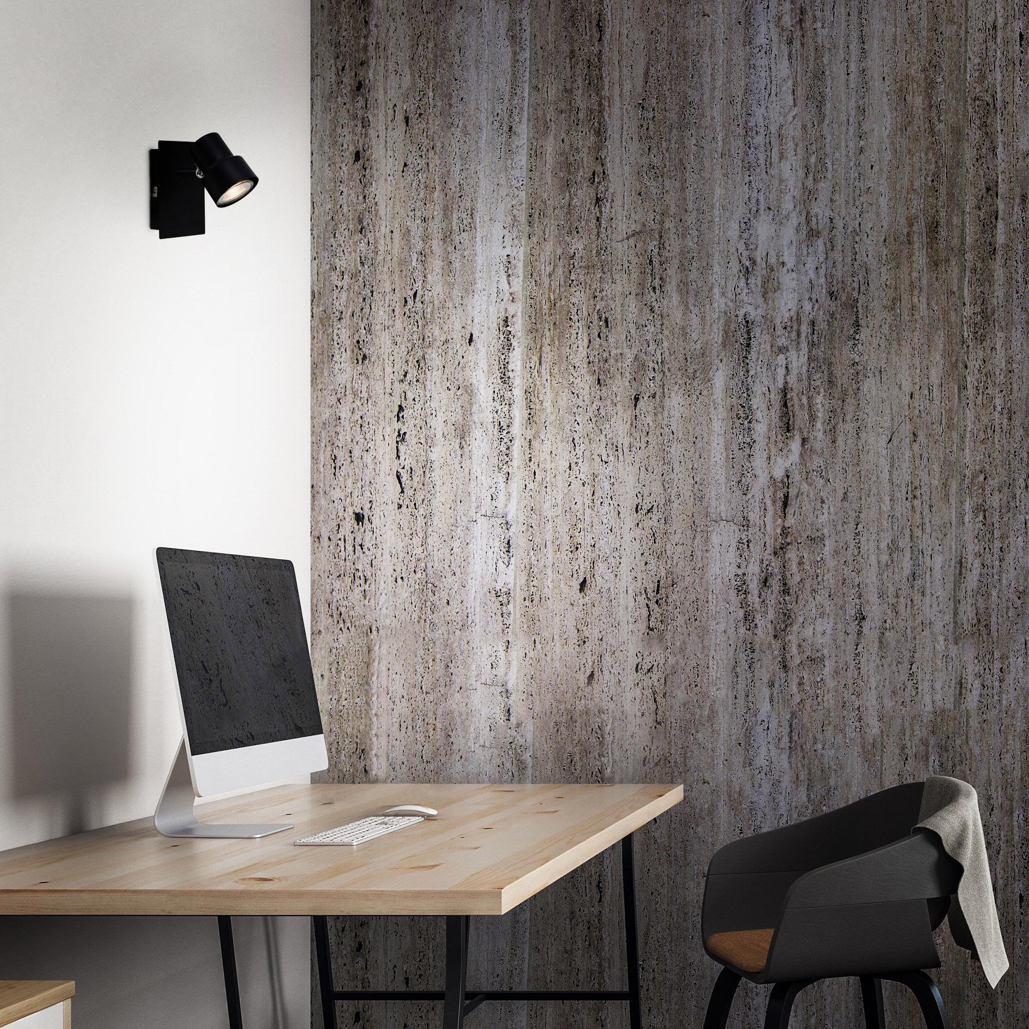 LED Spot Wand- und Deckenleuchte Schwarz