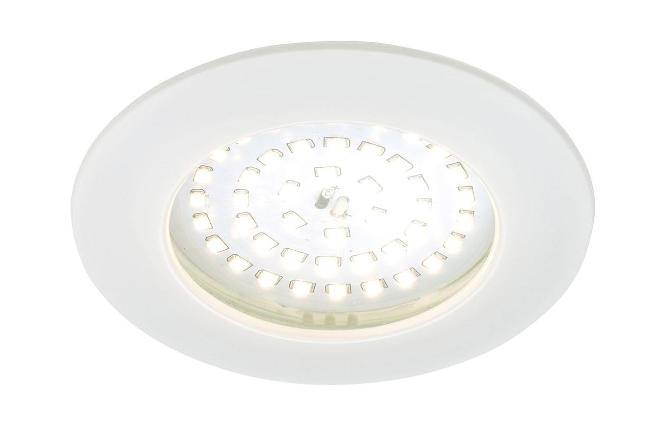 LED Einbauleuchte, Ø 10 cm, 10,5 W, Weiß