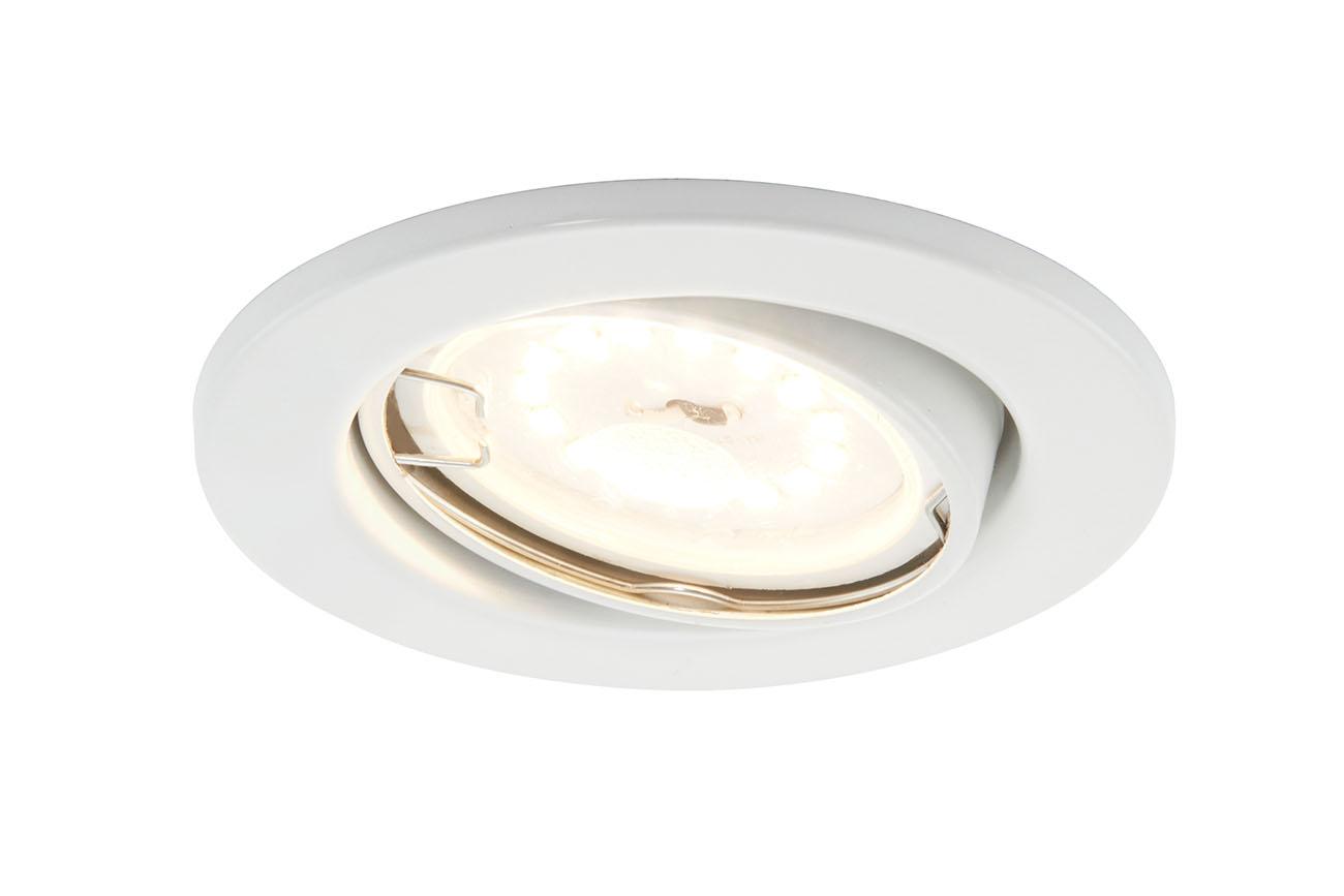 3er Set LED Einbauleuchte, Ø 8,6 cm, 5 W, Weiß