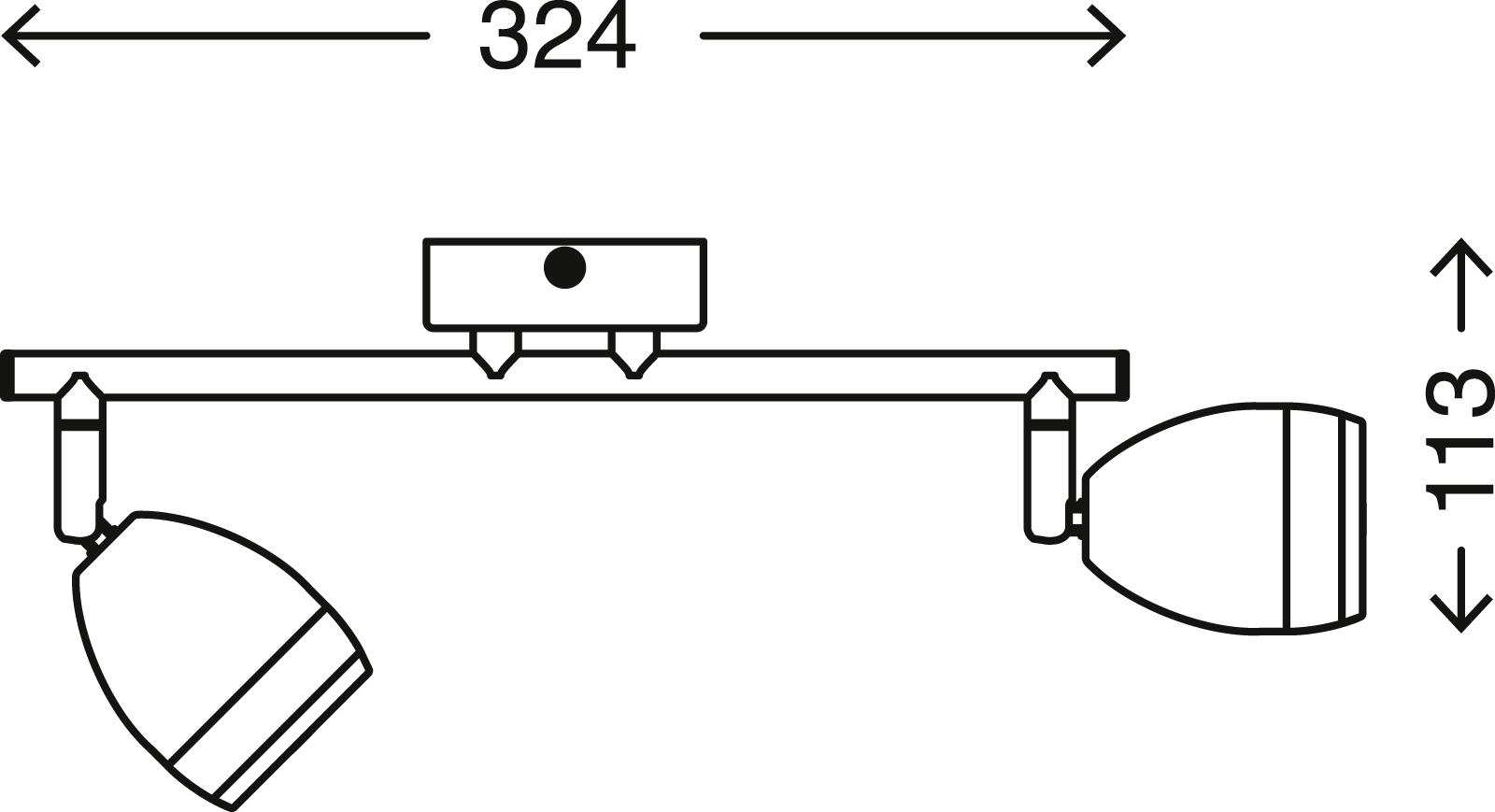 LED Spot Deckenleuchte, 32,4 cm, 8 W, Chrom