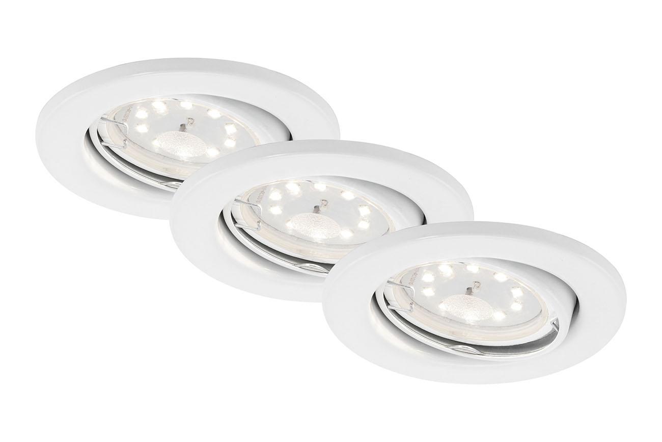 LED Einbauleuchte, Ø 8,6 cm, 5 W, Weiss