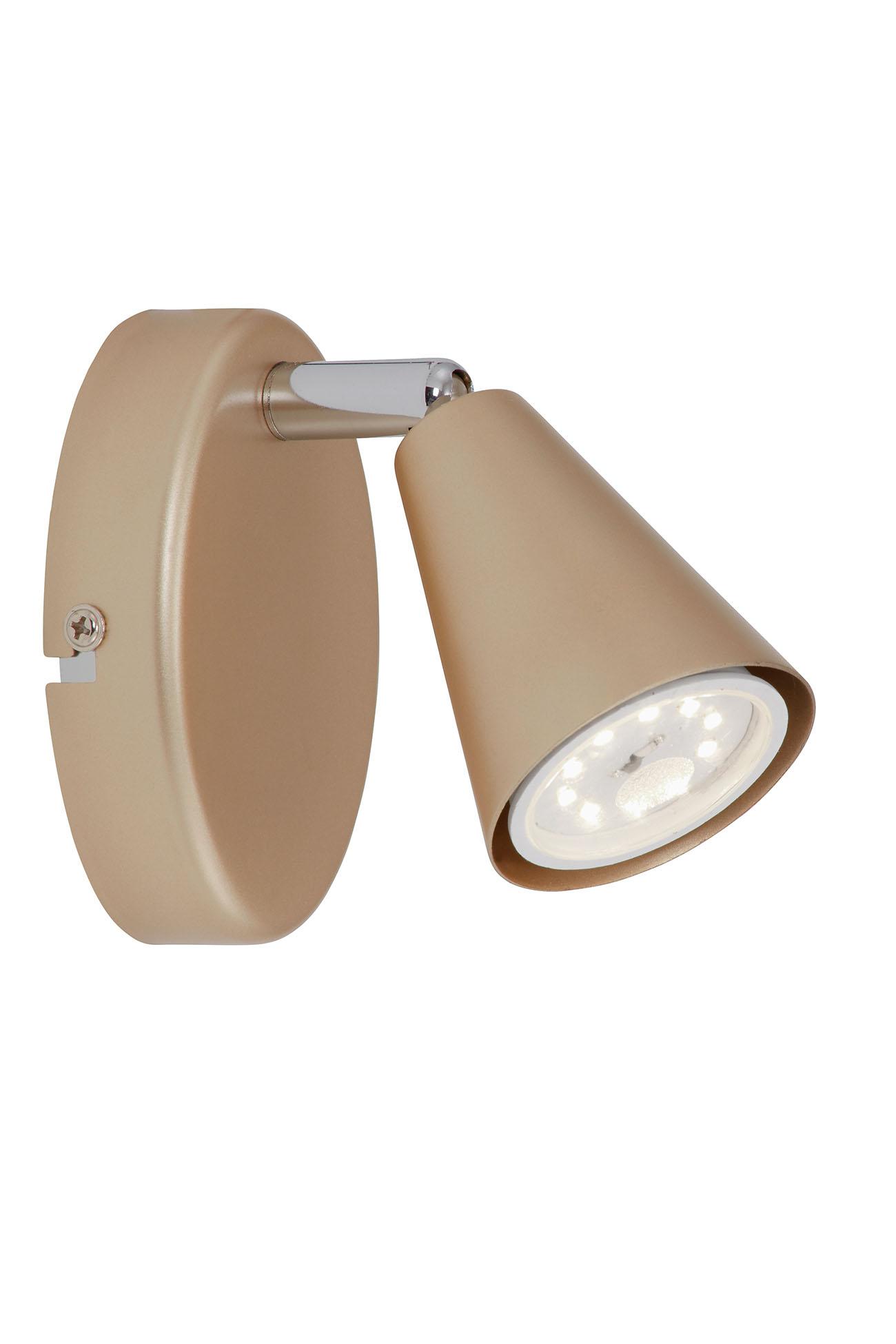 LED Spot Wandleuchte, 10,5 cm, 5 W, Gold