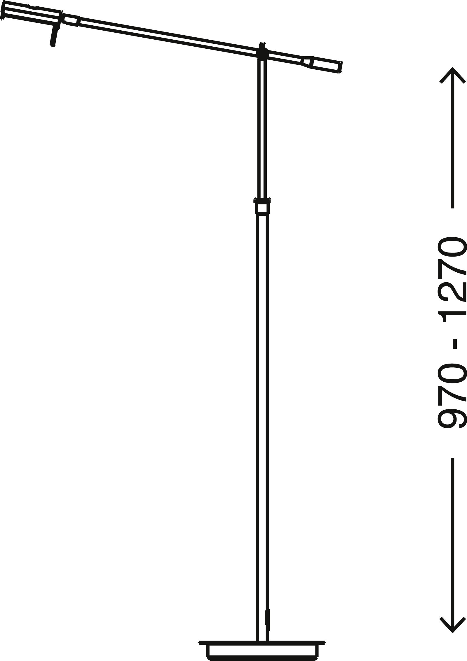 LED Stehleuchte, 126,5 cm, 10 W, Matt-Nickel