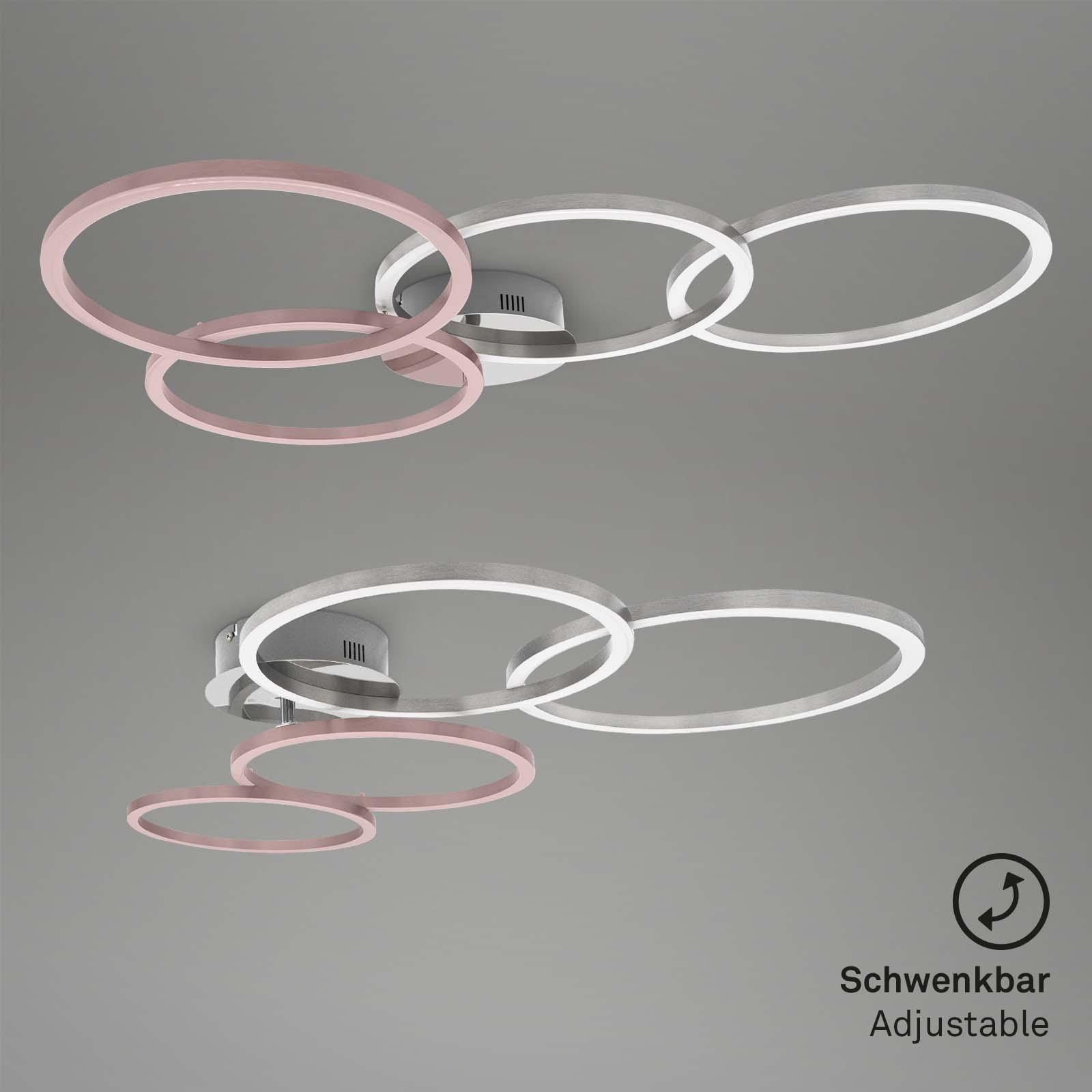 Frame CCT LED Deckenleuchte alufarbig-chrom Schwenkbar