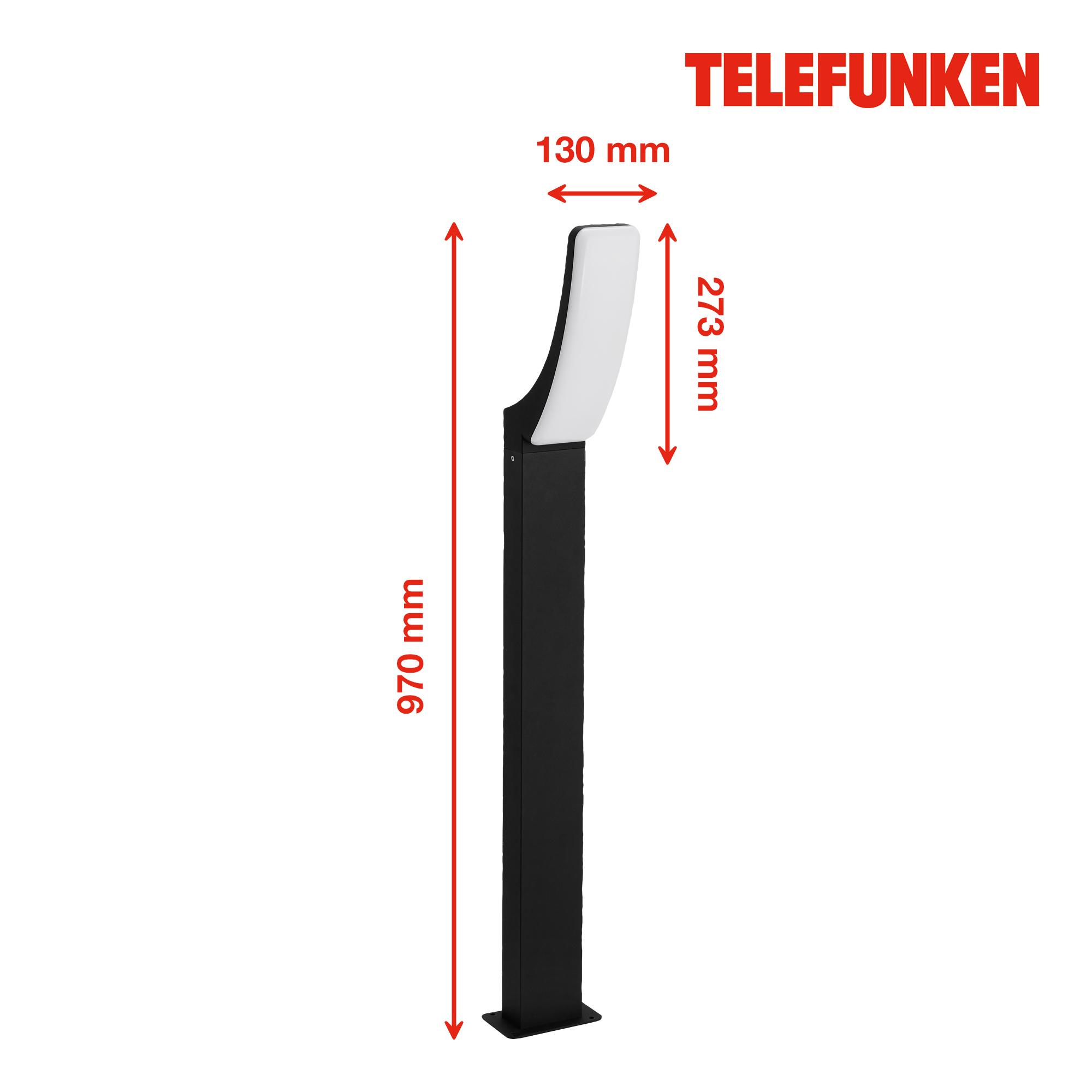 TELEFUNKEN LED Außenstehleuchte Schwarz