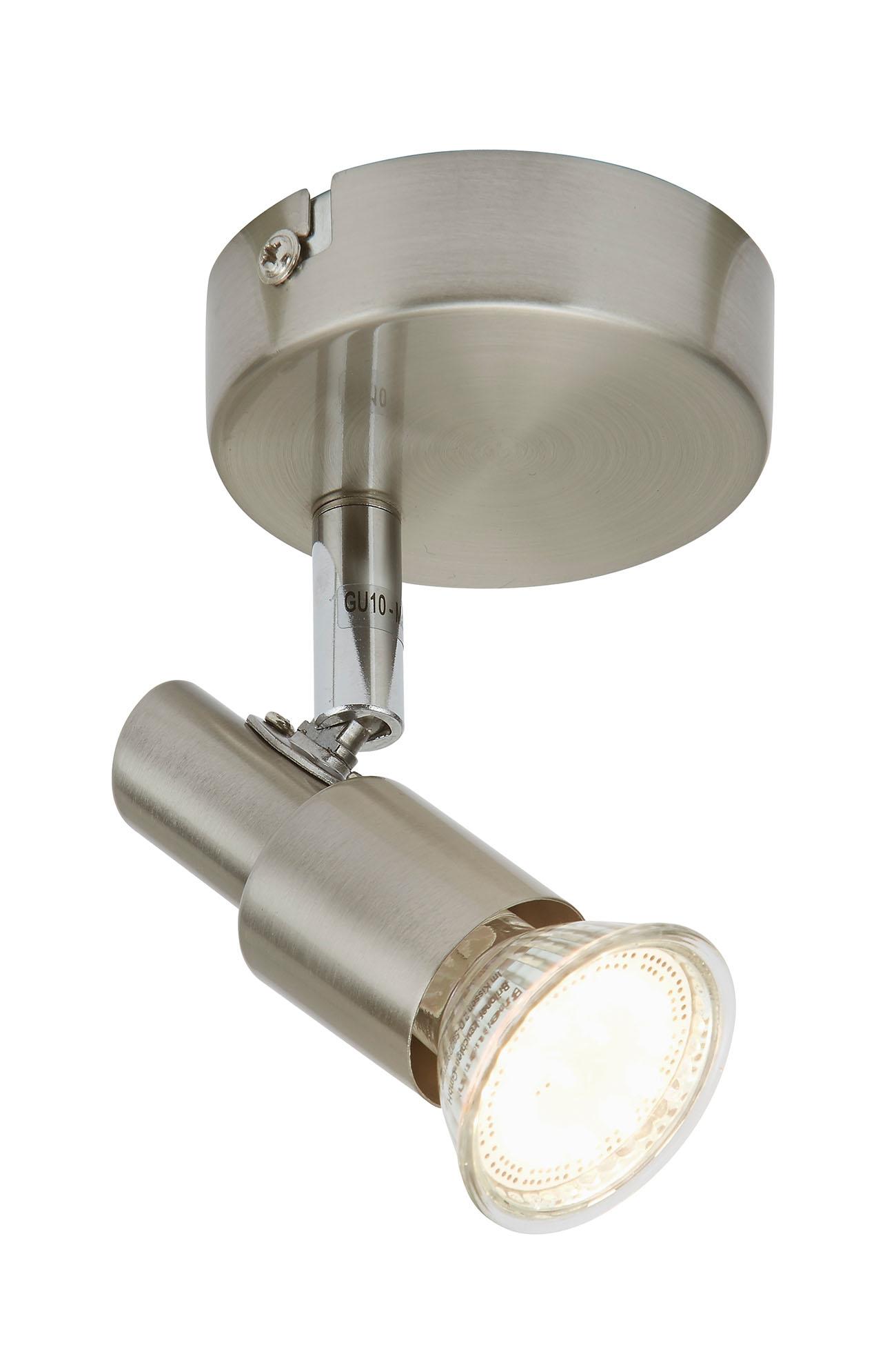 LED Spot Wandleuchte, Ø 8 cm, 3 W, Matt-Nickel