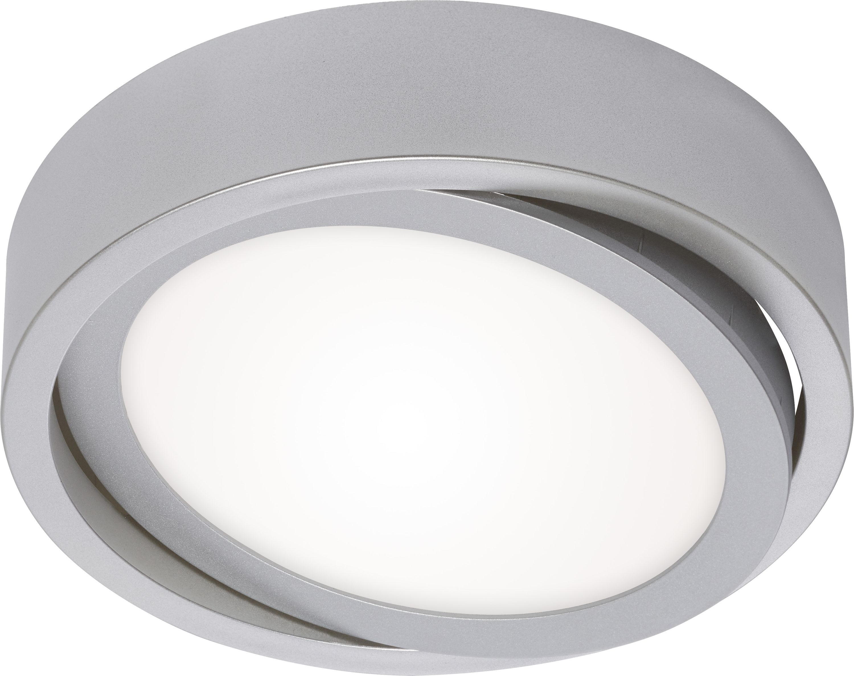 LED Deckenleuchte, Ø 18 cm, 12 W, Chrom-Matt