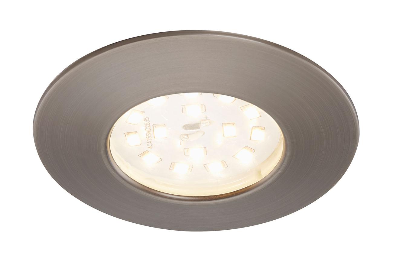 LED Einbauleuchte, Ø 7,5 cm, Silber