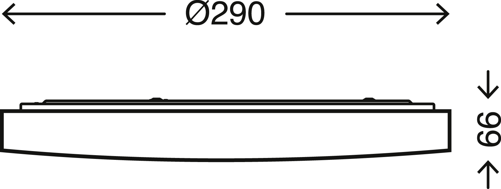 TELEFUNKEN Sensor LED Deckenleuchte, Ø 29 cm, 12 W, Weiss