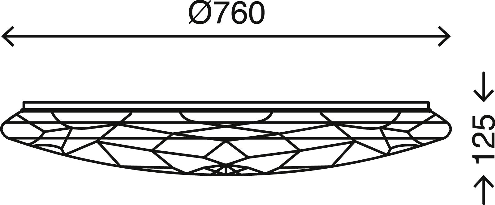 CCT LED Deckenleuchte, Ø 76 cm, 80 W, Weiß