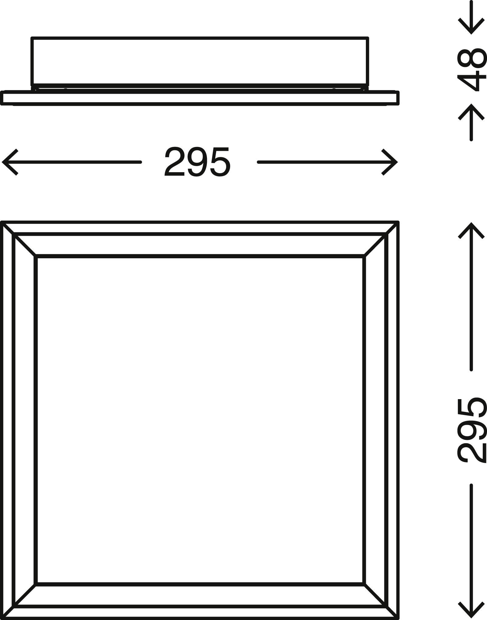 CCT LED Panel, 29,5 cm, 1800 LUMEN, 18 WATT, Weiss
