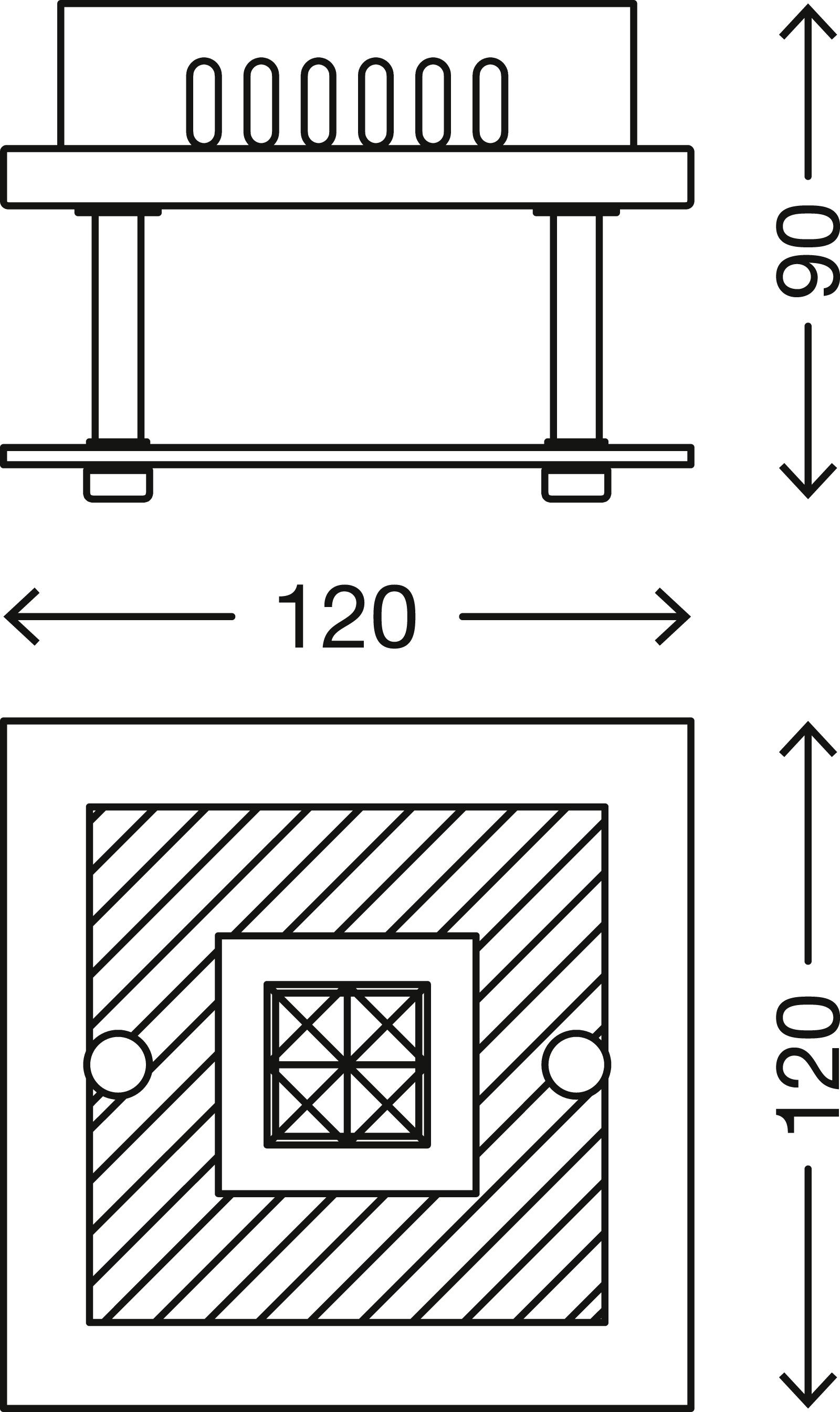 LED Deckenleuchte, 12 cm, 3 W, Chrom