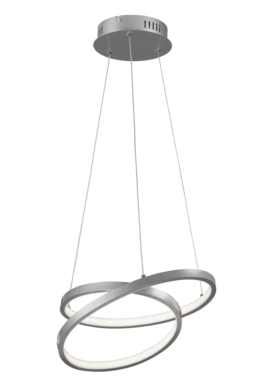 LED Pendelleuchte, Ø 39 cm, 40 W, Alu