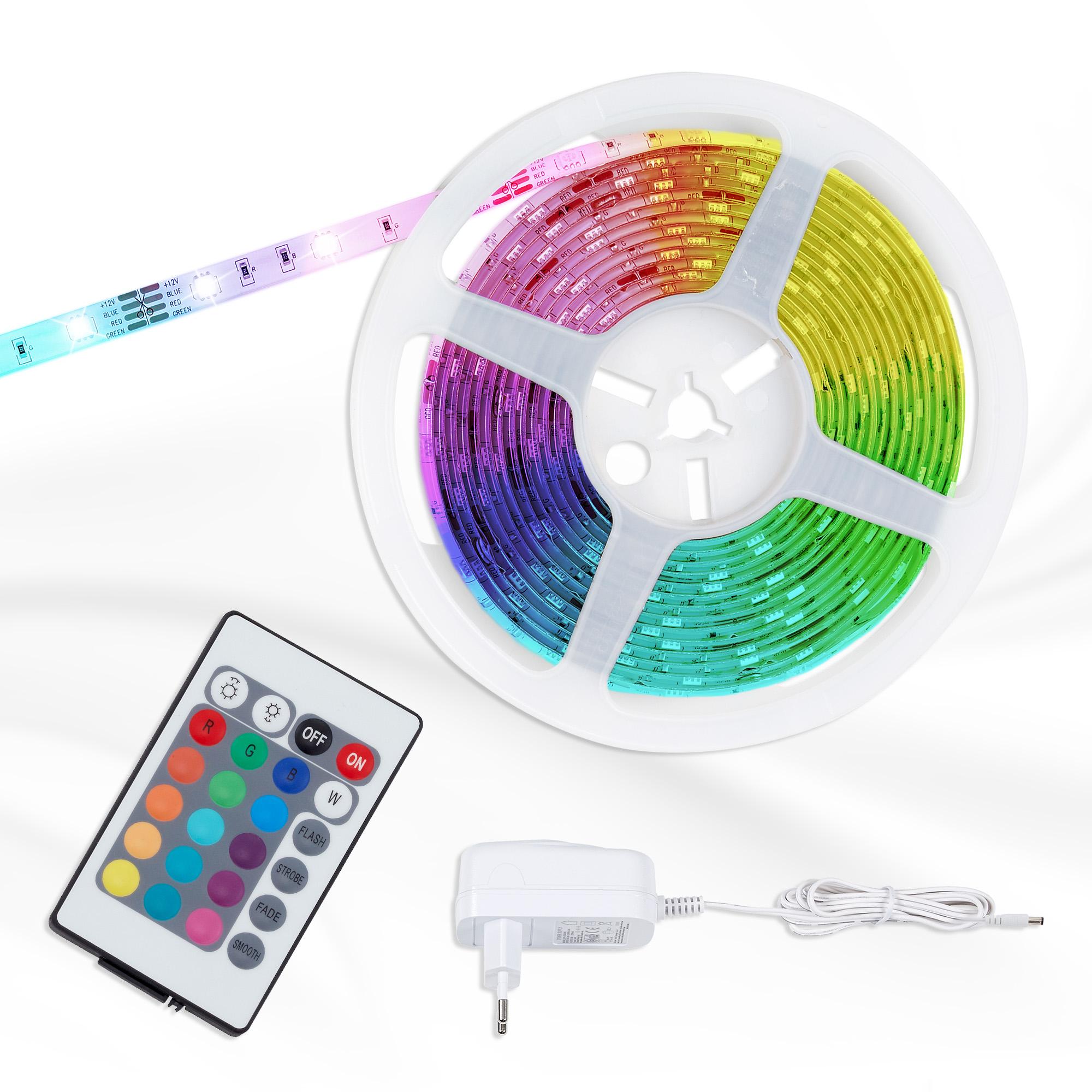 RGB LED Flexband, 5 Meter, 22 W, Weiß