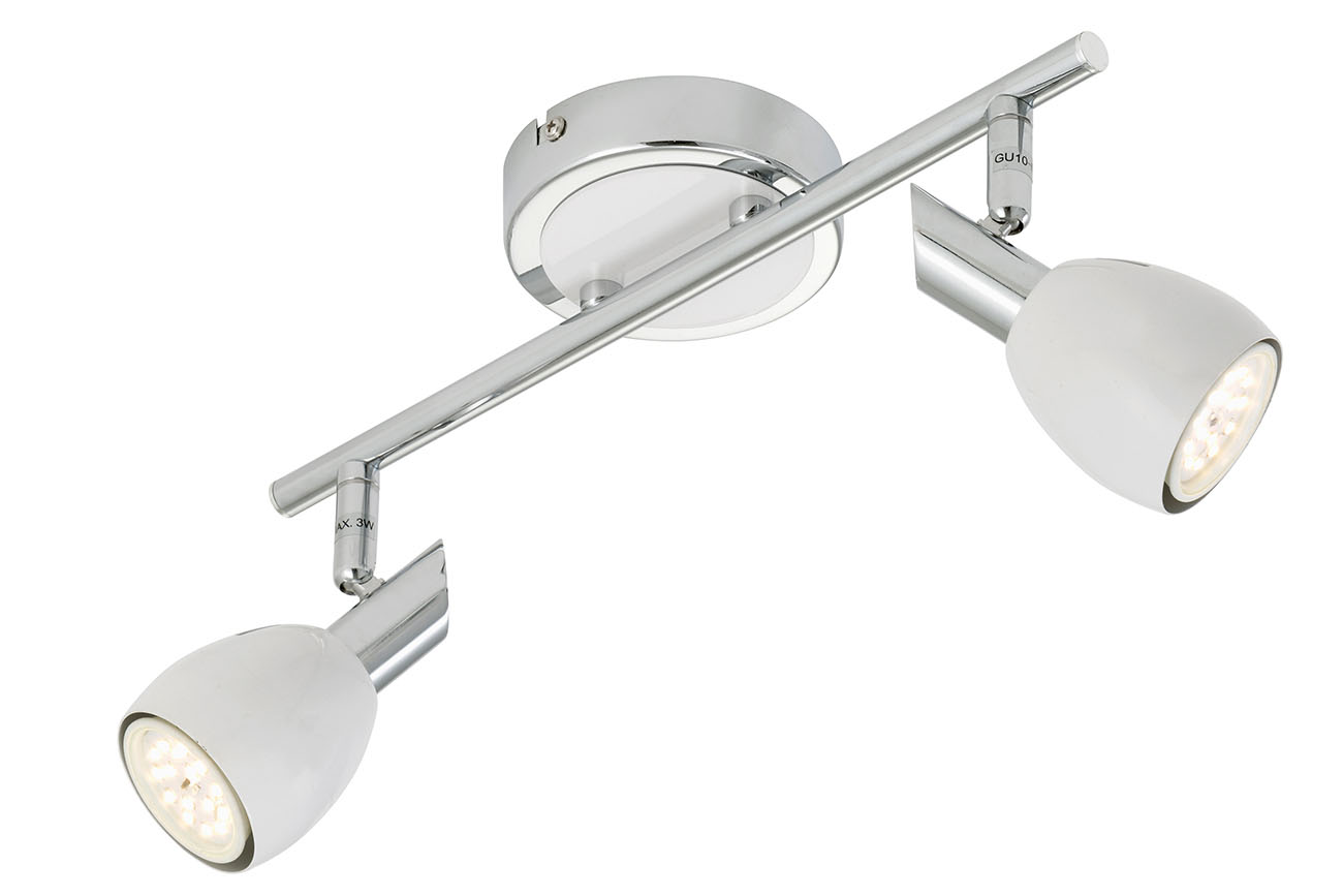 LED Spot Deckenleuchte, 32 cm, 10 W, Chrom-Weiß