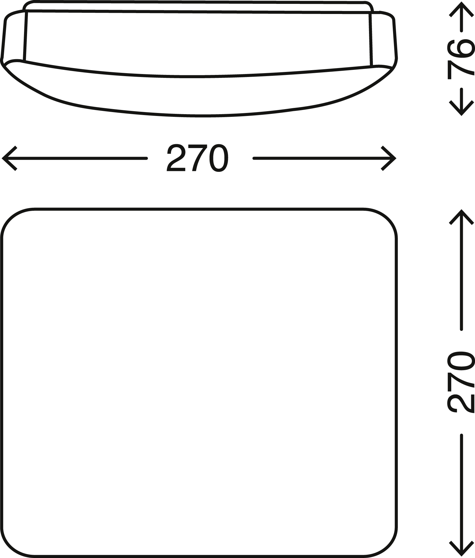 TELEFUNKEN Sensor LED Deckenleuchte, 27 cm, 12 W, Weiss