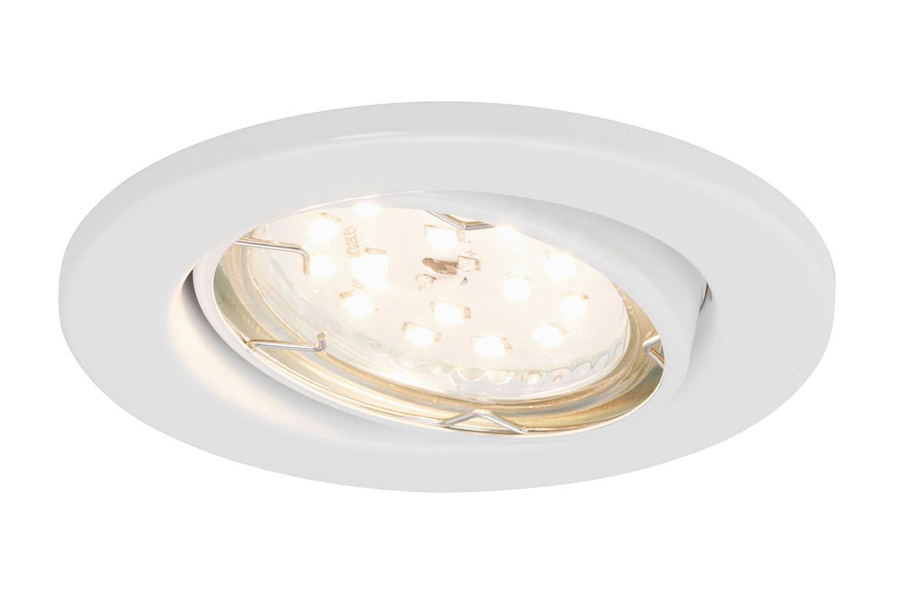 3er Set LED Einbauleuchte, Ø 8,6 cm, 5 W, Weiss