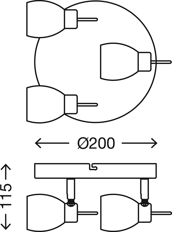 LED Spot Deckenleuchte, Ø 20 cm, 9 W, Matt-Nickel