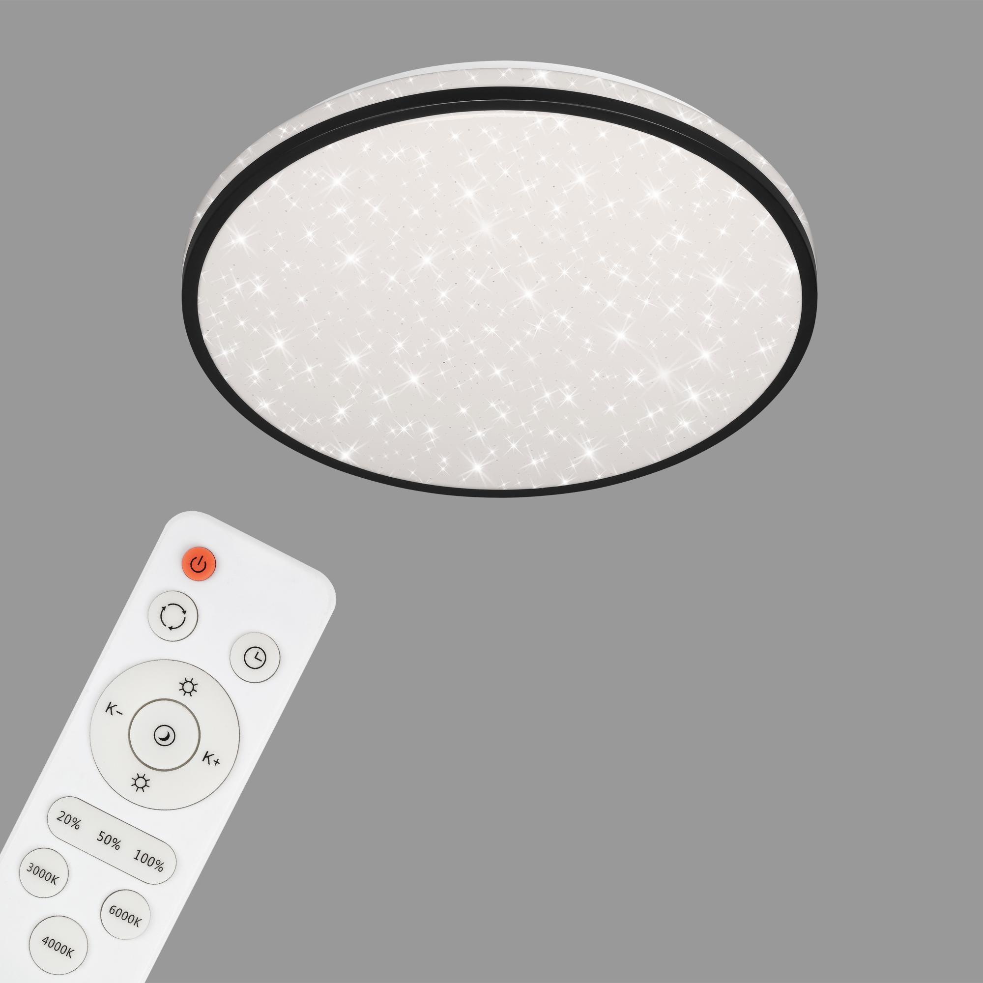 STERNENHIMMEL LED Deckenleuchte, Ø 38 cm, 24 W, Schwarz