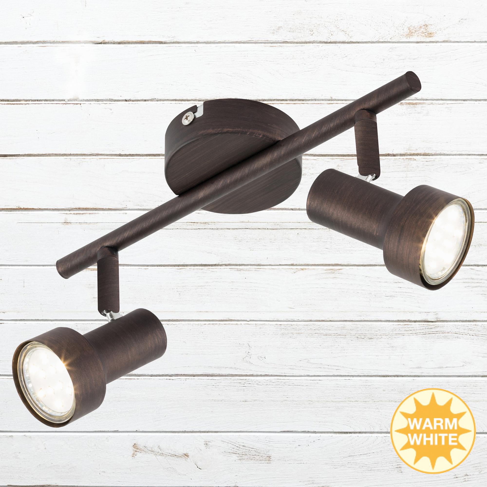 LED Spot Deckenleuchte, 27,5 cm, 6 W, Kupfer