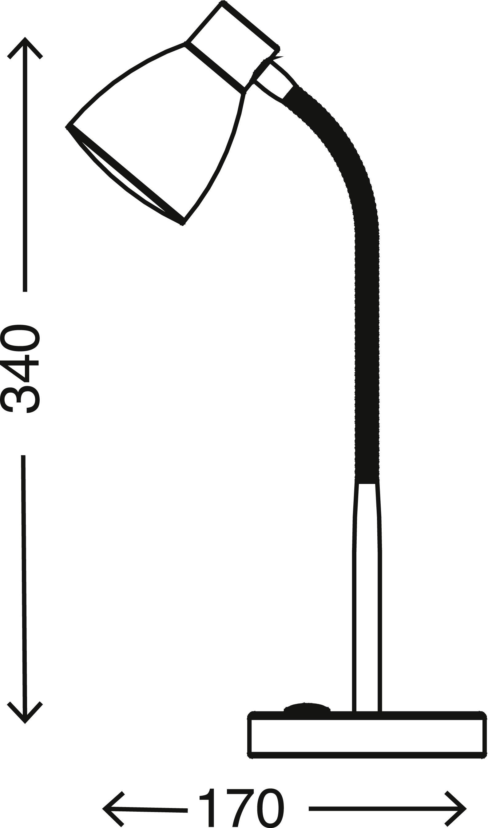 LED Tischleuchte, 34 cm, 2,5 W, Titan
