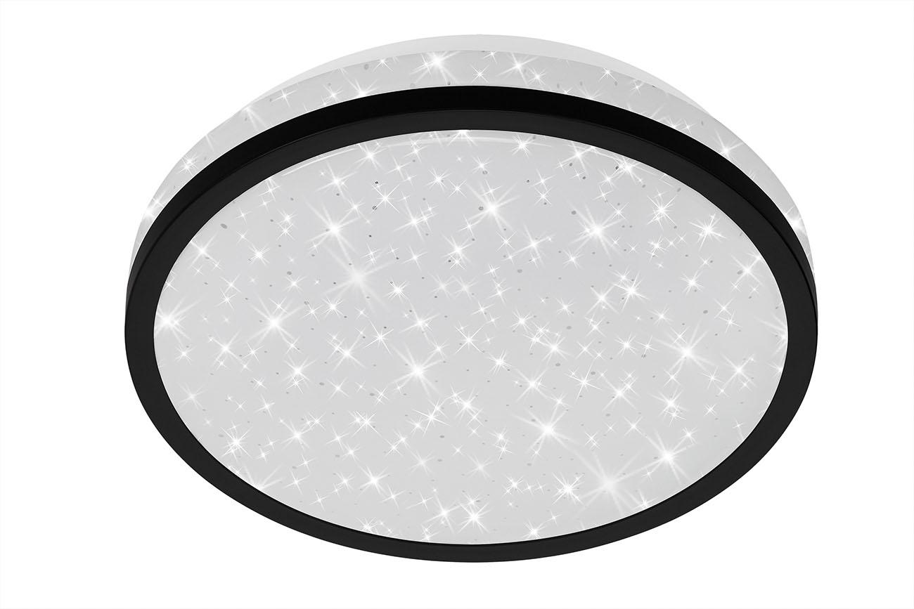 STERNENHIMMEL LED Deckenleuchte, Ø 21,7 cm, 10 W, Schwarz