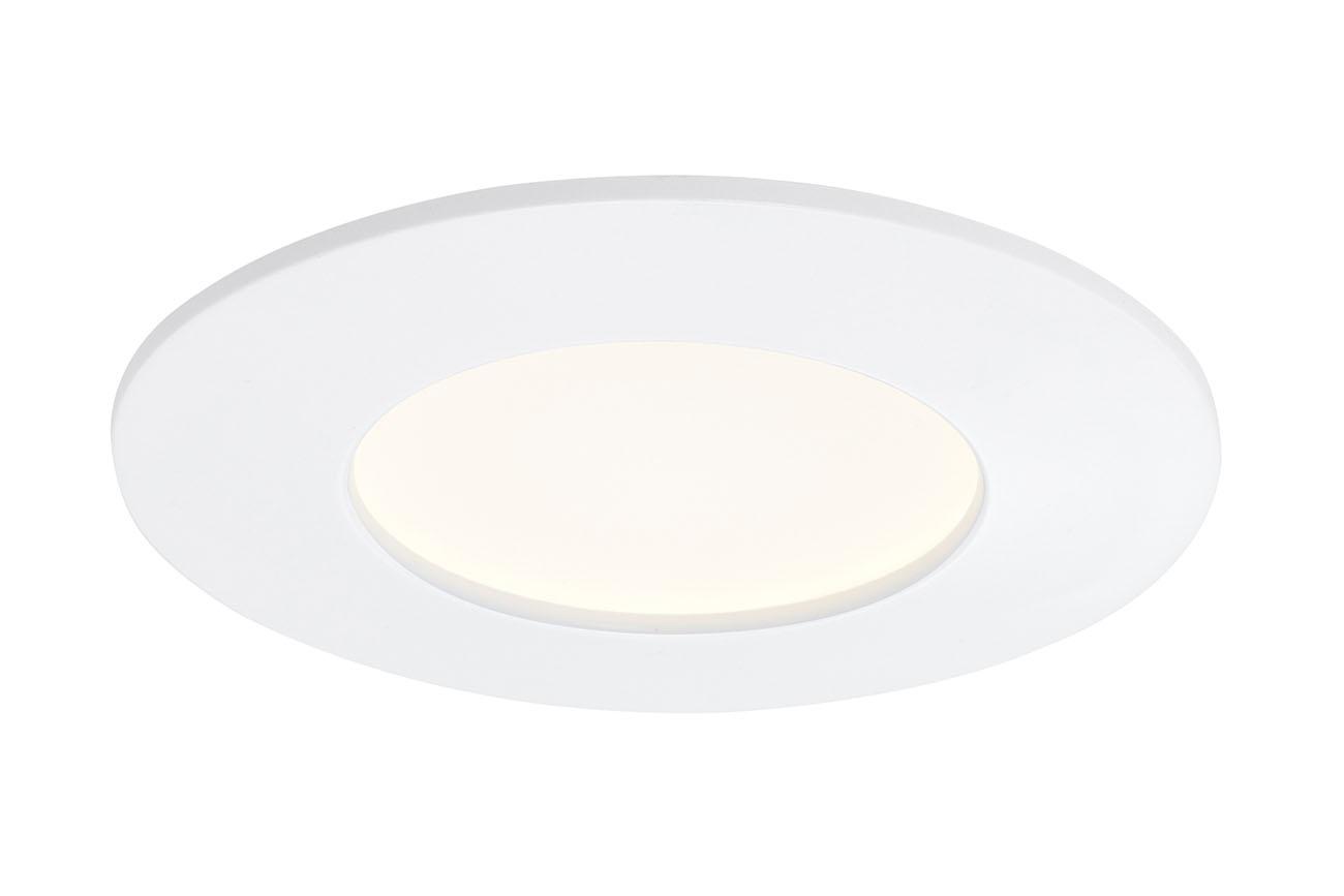 3er Set LED Einbauleuchte, Ø 8,5 cm, 6 W, Weiss