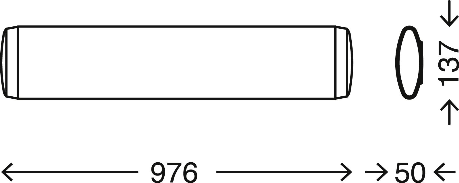 TELEFUNKEN LED Deckenleuchte, 97,6 cm, 23 W, Weiß